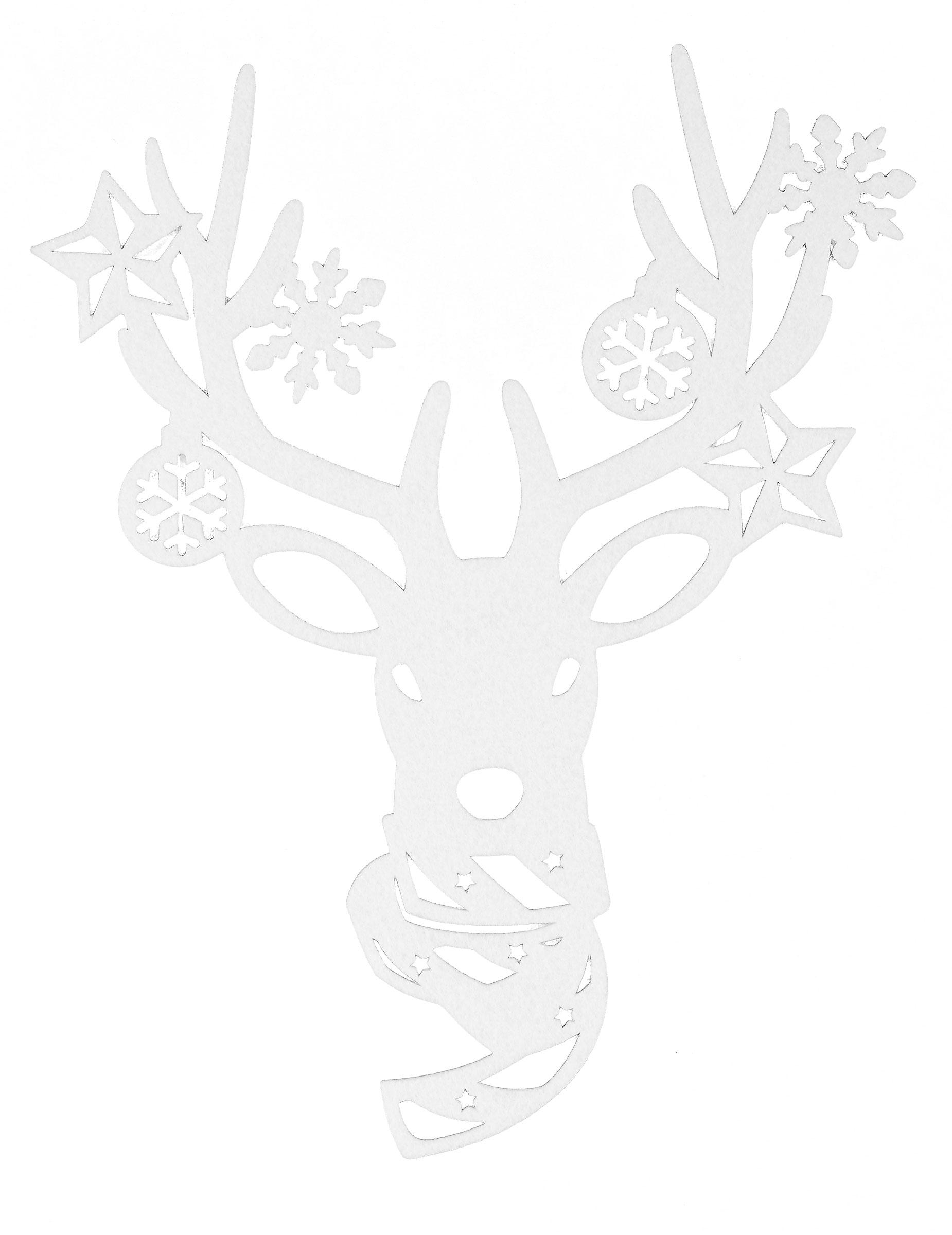 Fenster rentierdekoration weihnachten 35cm g nstige for Decoration fenetre renne