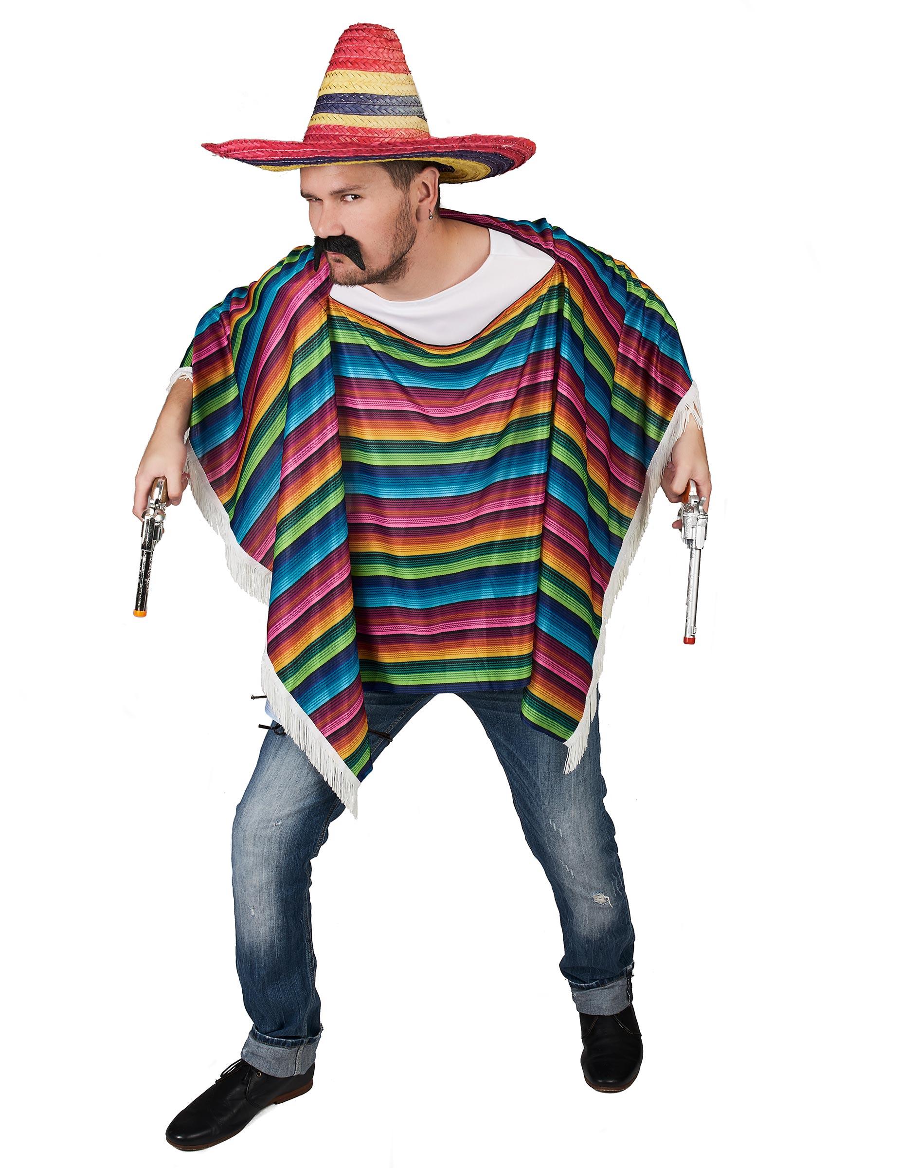 Mexikanischer Poncho Wilder Westen Kostum Accessoire Bunt Gunstige