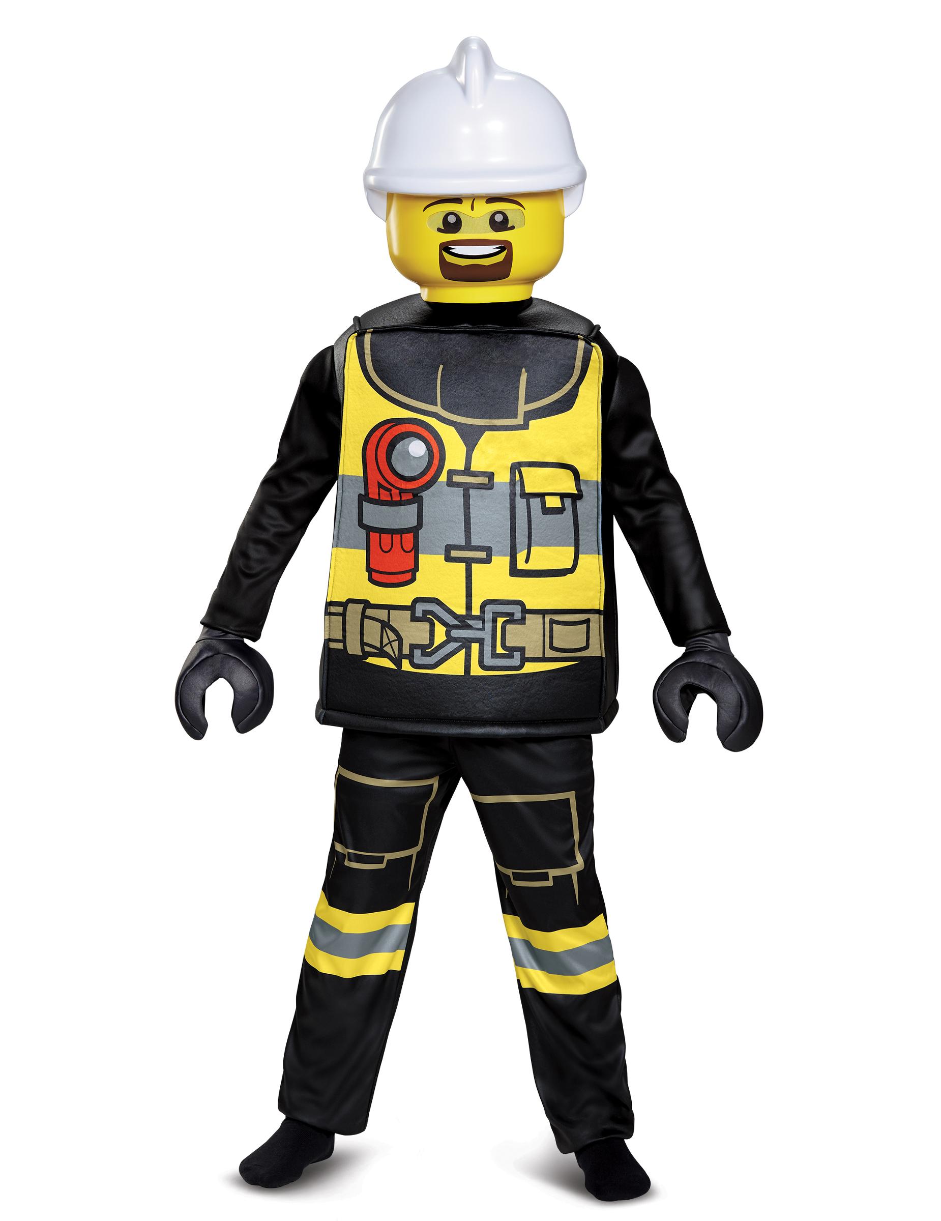 Feuerwehrmann Lego Deluxe Kostum Fur Kinder Bunt Gunstige