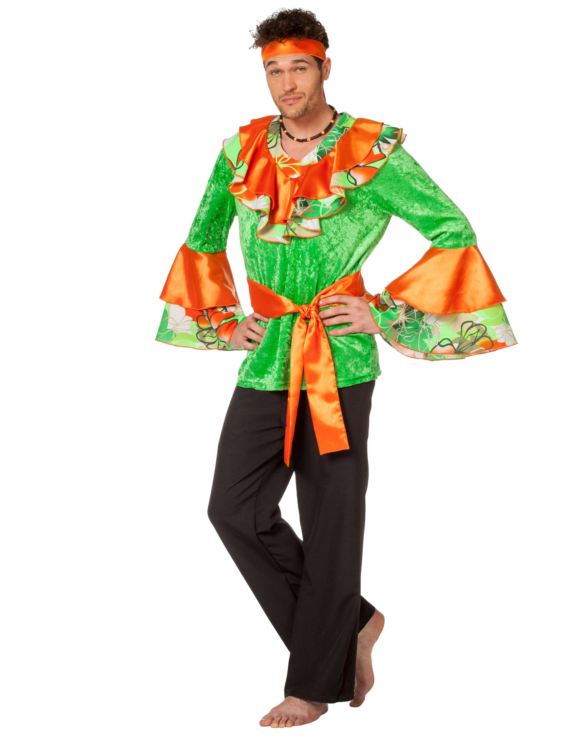 rumbat nzer herrenkost m orange gr n g nstige faschings kost me bei karneval megastore. Black Bedroom Furniture Sets. Home Design Ideas