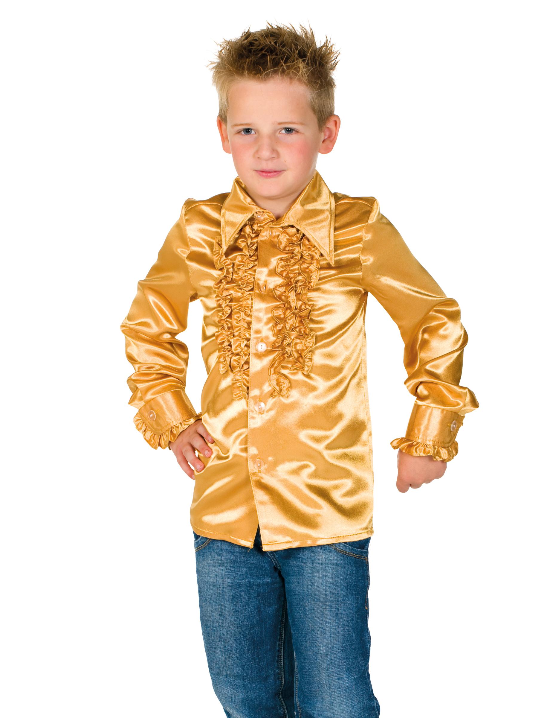 hemd mit r schen f r kinder gold g nstige faschings kost me bei karneval megastore. Black Bedroom Furniture Sets. Home Design Ideas