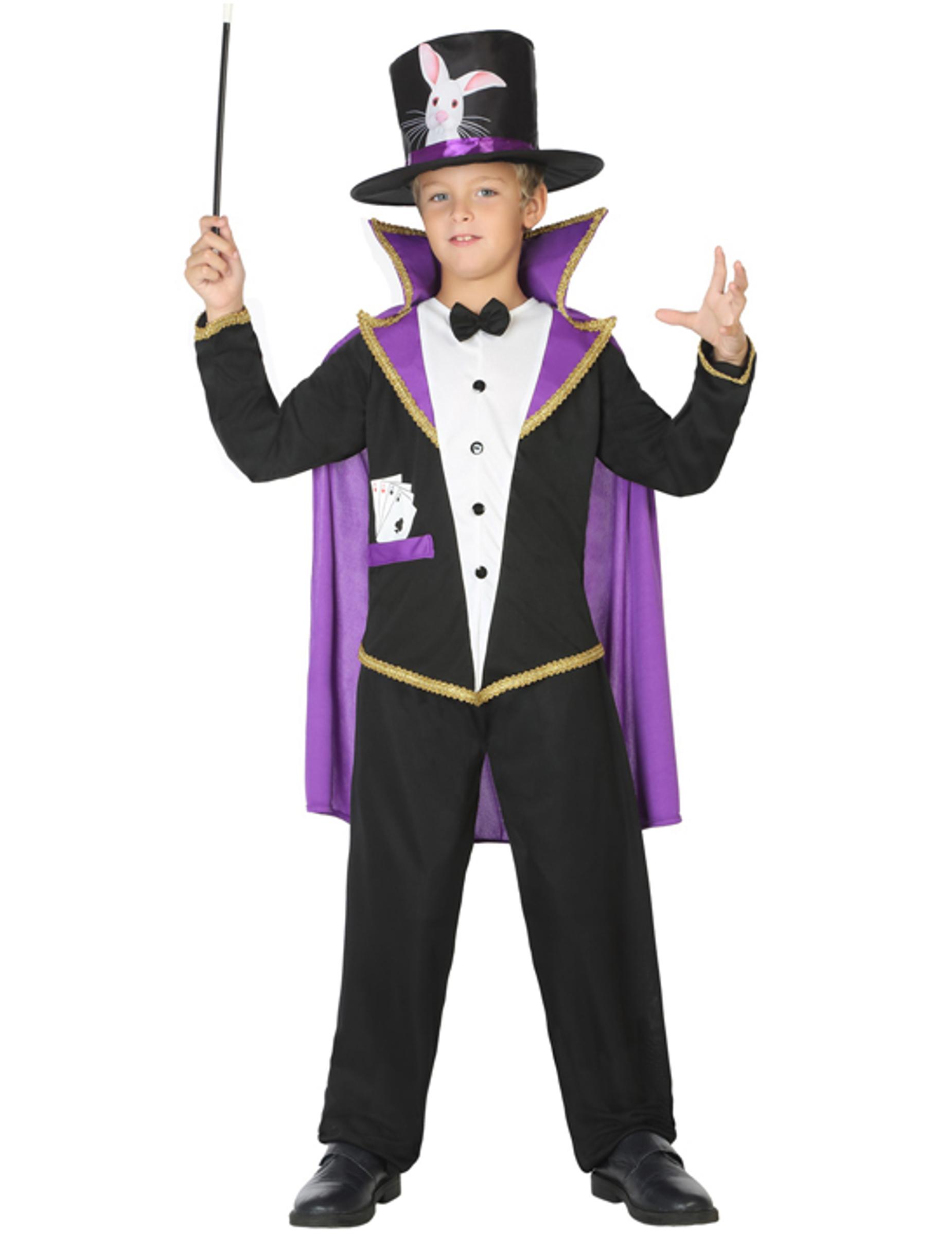 Zauberer Kostum Fur Kinder Schwarz Violett Gunstige Faschings