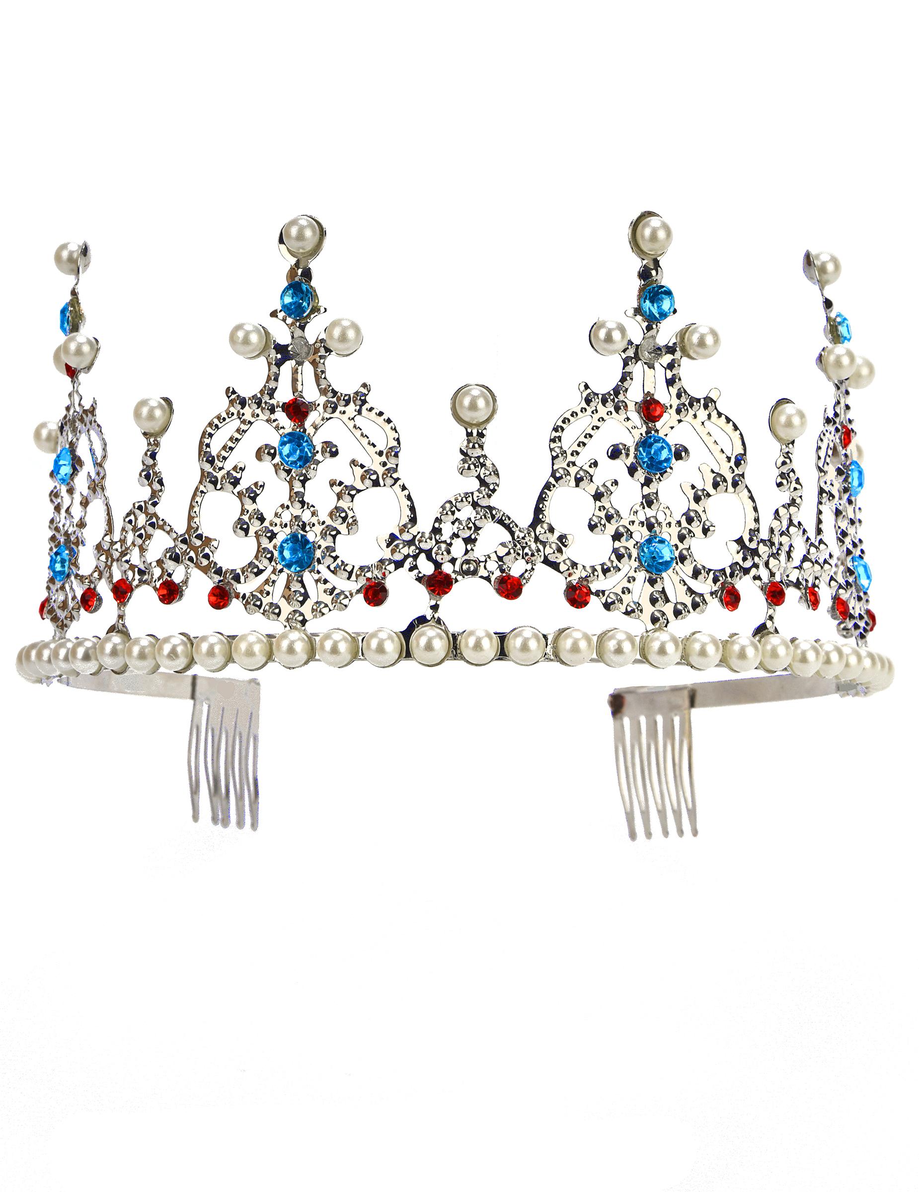 Edle prinzessinnen tiara silber g nstige faschings for Edle accessoires
