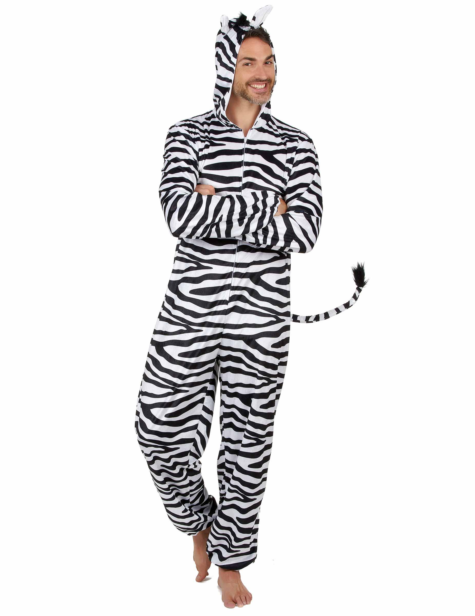 Zebra Herrenkostum Karneval Tierkostum Weiss Schwarz Gunstige
