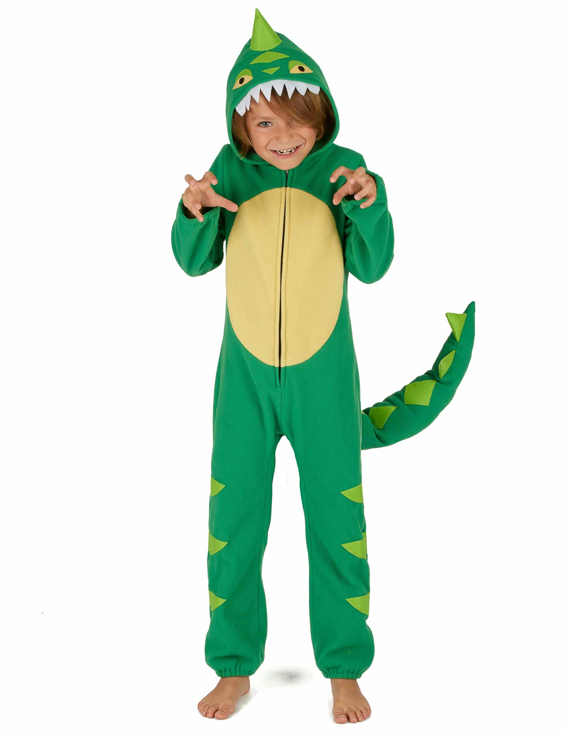 Dinosaurier Kinderkostum Kleiner Drachen Grun Gunstige Faschings