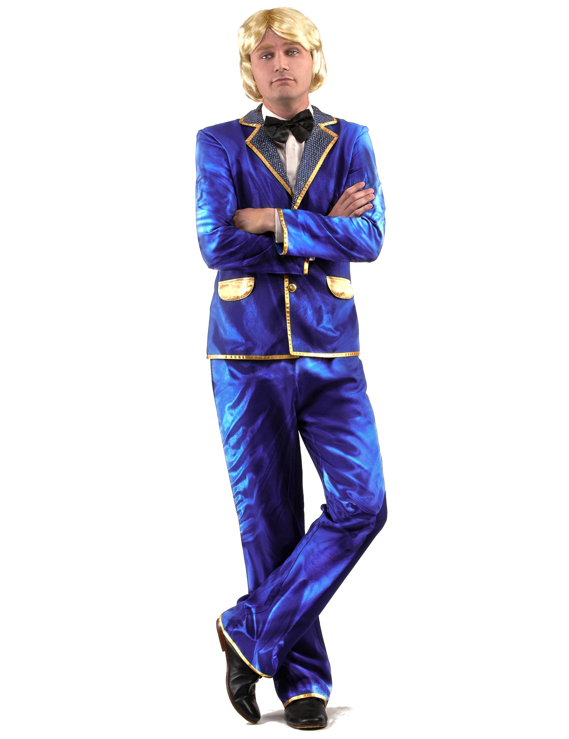 70er outfit disco herrenkost m blau gold g nstige faschings kost me bei karneval megastore. Black Bedroom Furniture Sets. Home Design Ideas