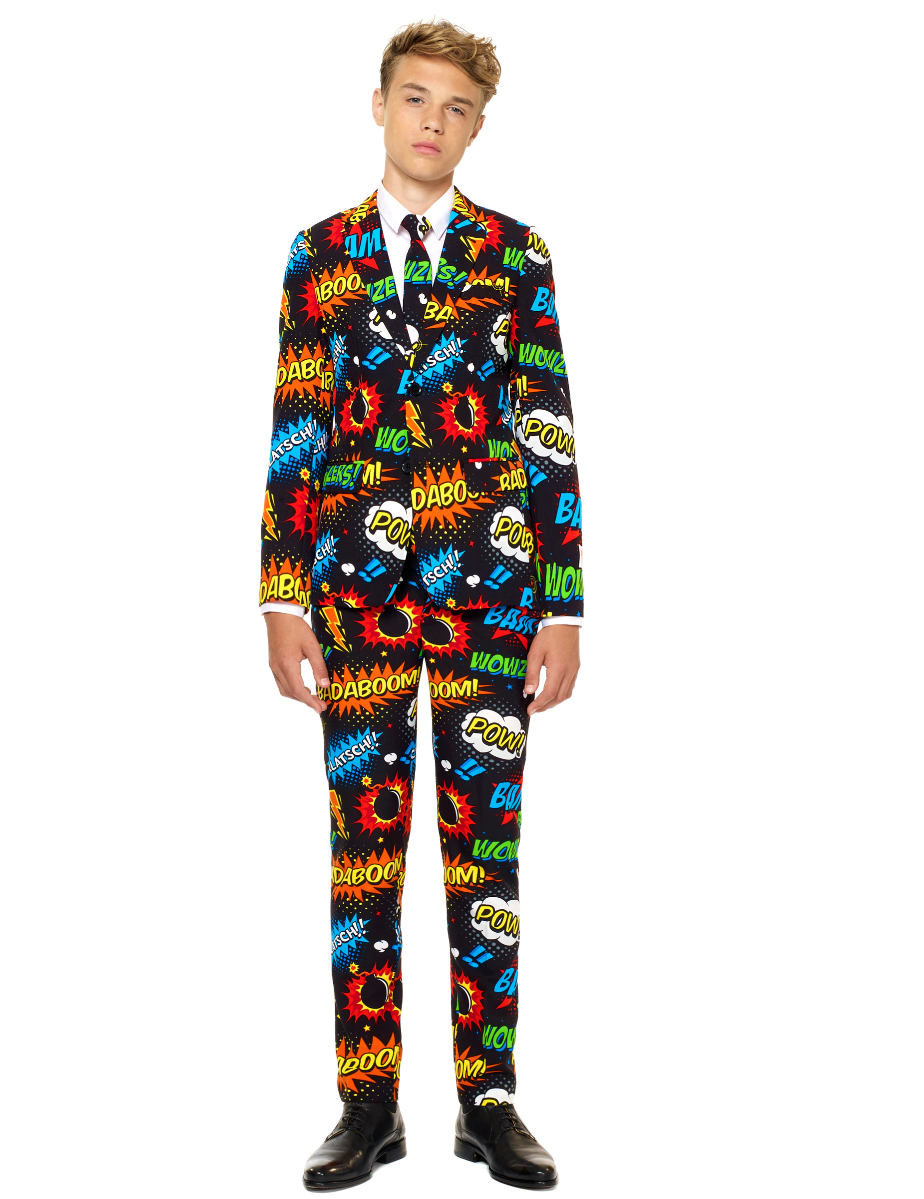 Mr Comic Opposuits Anzug Fur Kinder Schwarz Bunt Gunstige