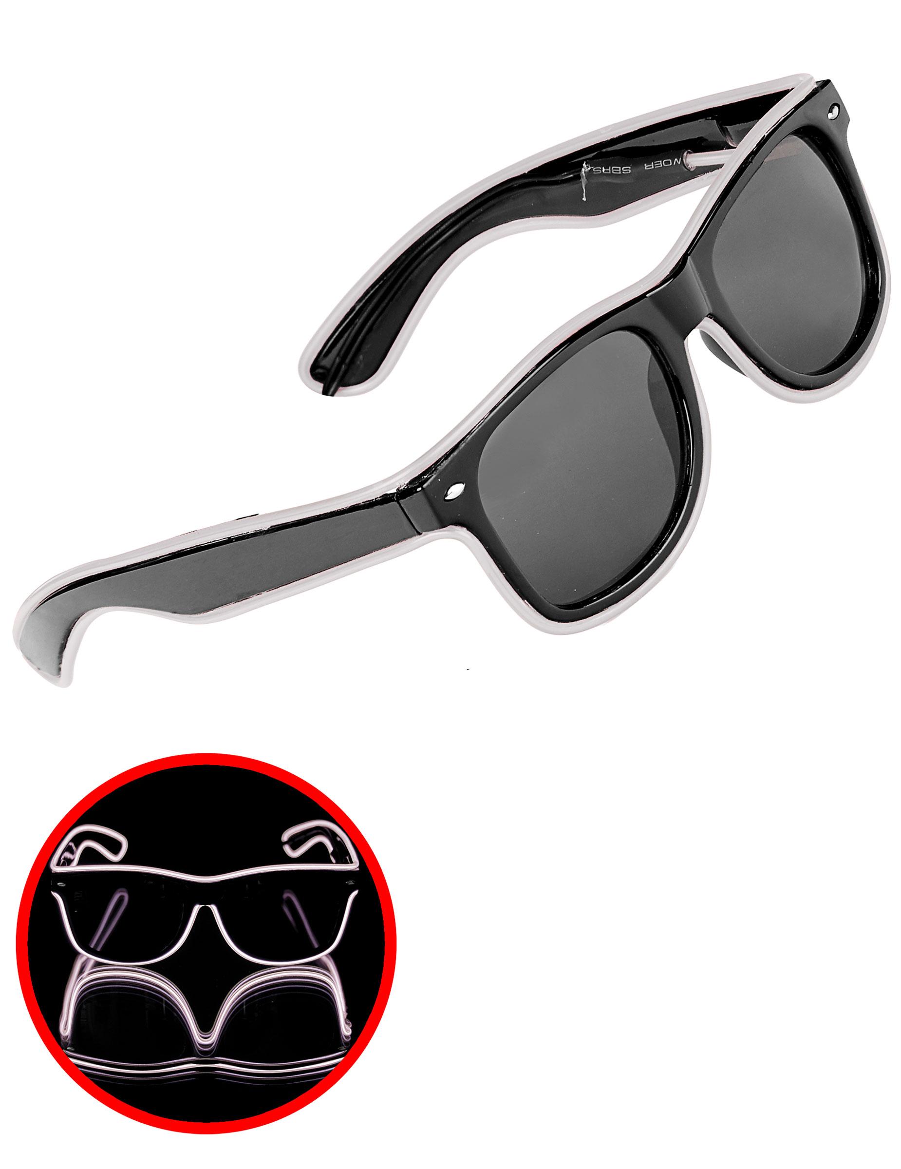 50er jahre brille f r erwachsene weiss g nstige faschings accessoires zubeh r bei karneval. Black Bedroom Furniture Sets. Home Design Ideas