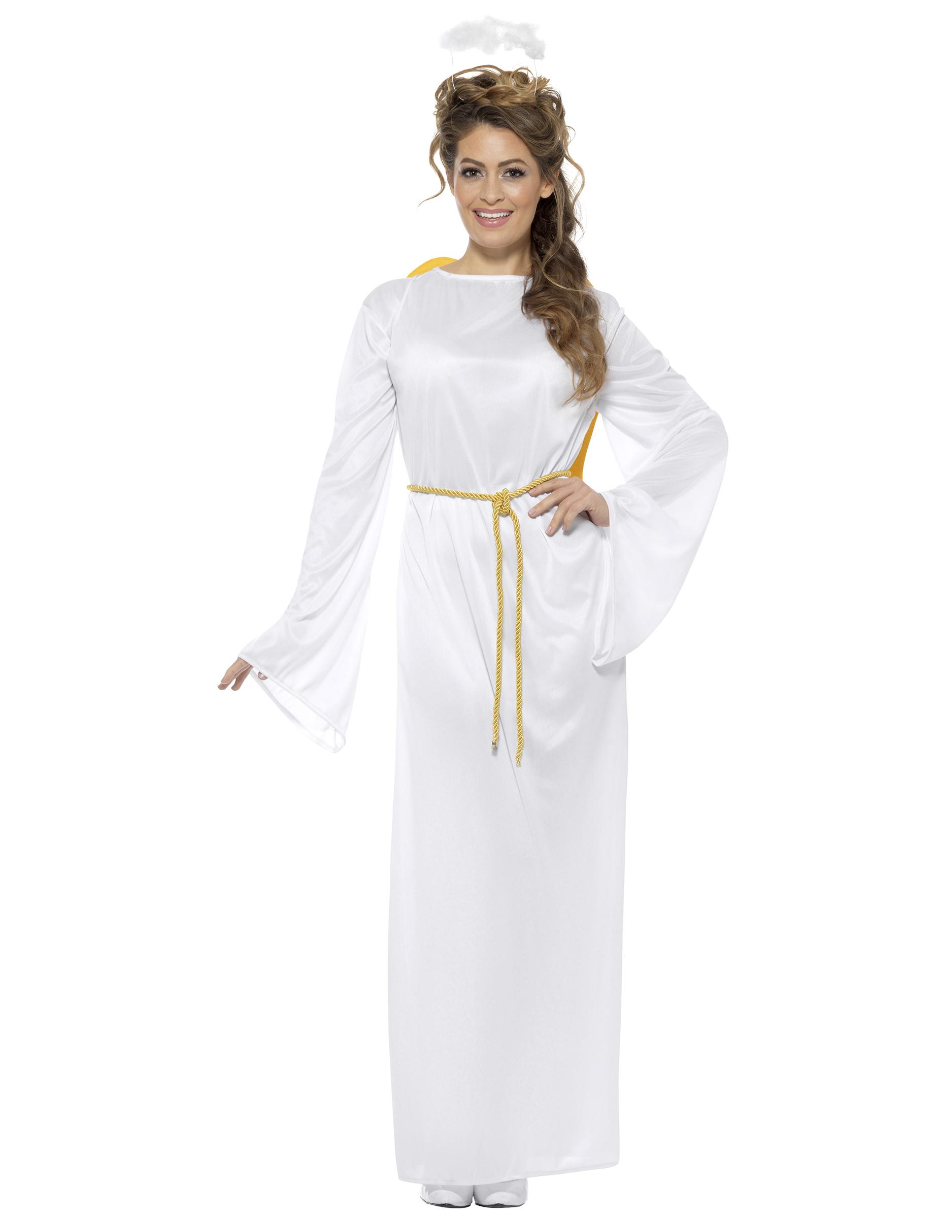 Weihnachts-Kostüm Engel für Erwachsene weiss , günstige Faschings ...