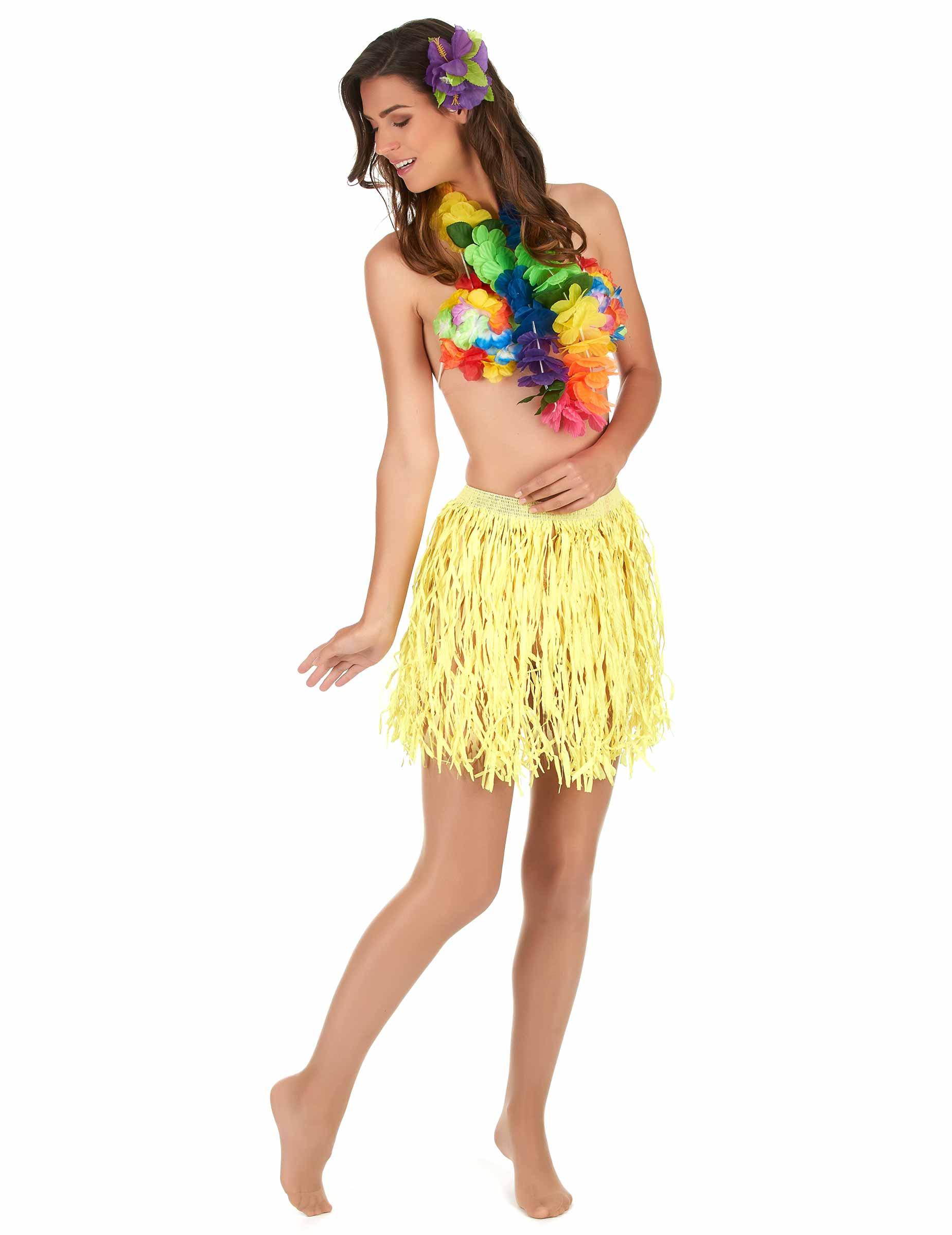 Hawaii Bastrock Kostum Accessoire Gelb Gunstige Faschings Kostume