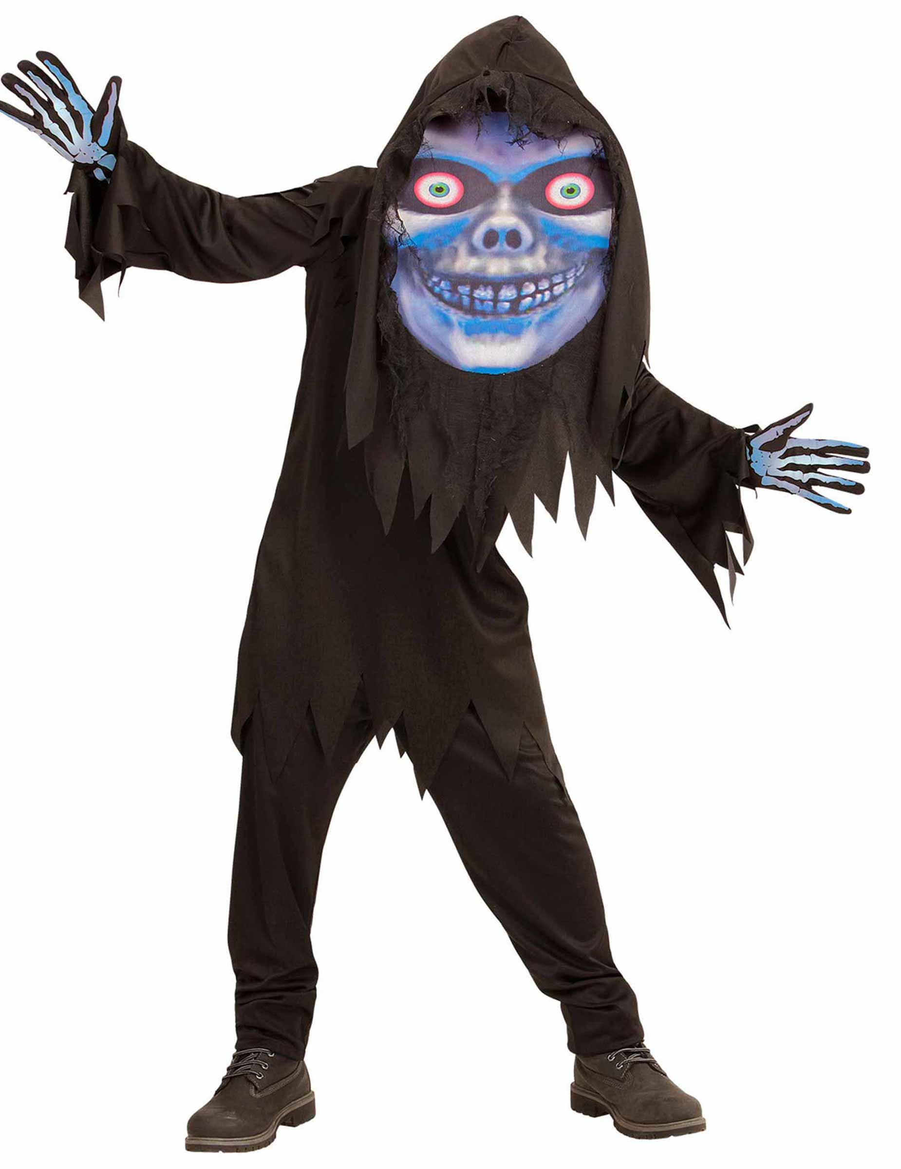 Gruseliger Sensenmann Mit Grossem Kopf Halloween Kostum Fur Teenager