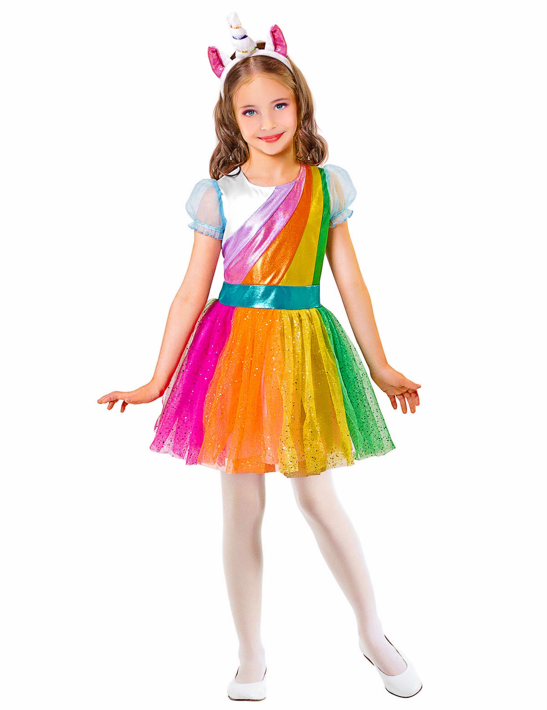 Kostum Regenbogen Einhorn Fur Madchen Gunstige Faschings Kostume