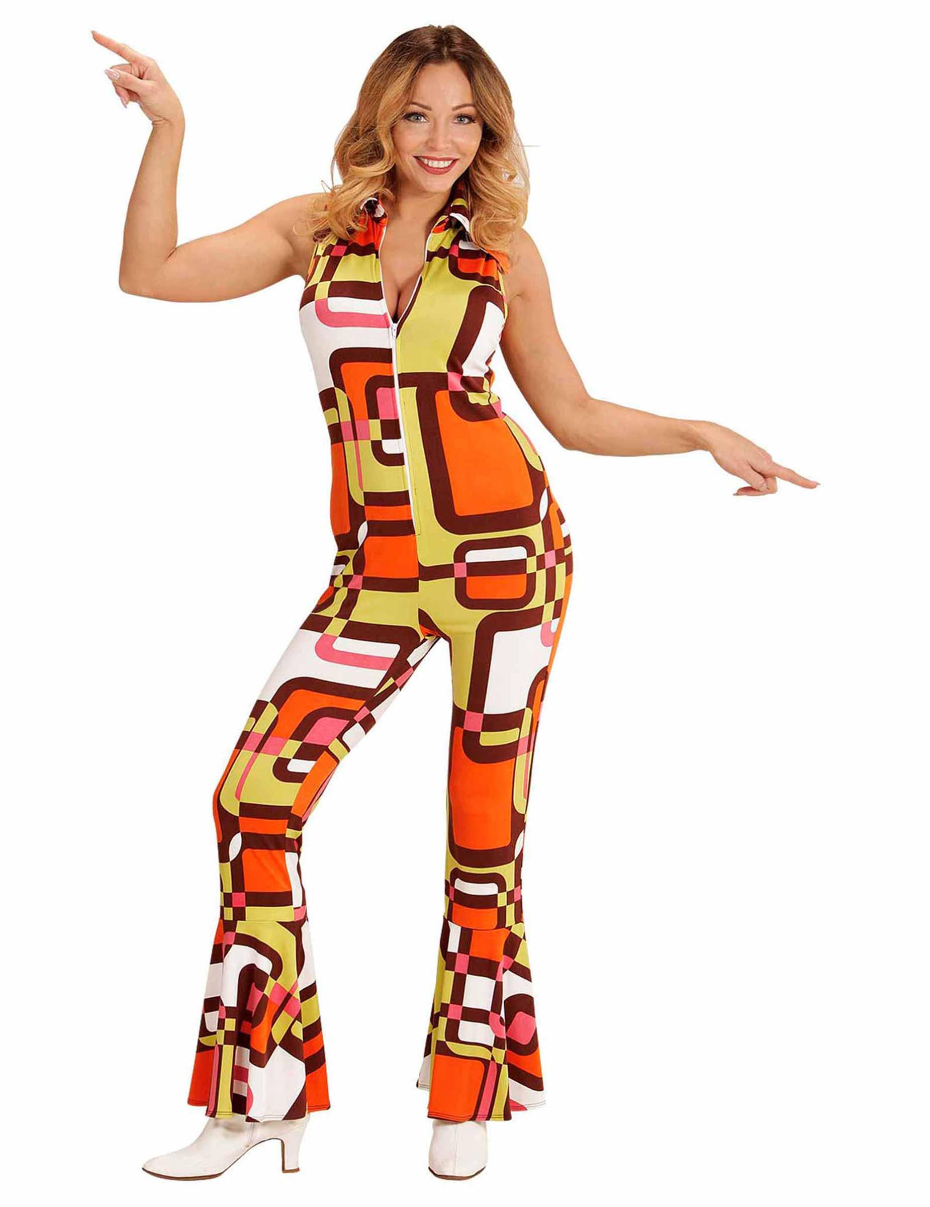 70er damenkost m 70er outfit orange gelb g nstige faschings kost me bei karneval megastore. Black Bedroom Furniture Sets. Home Design Ideas