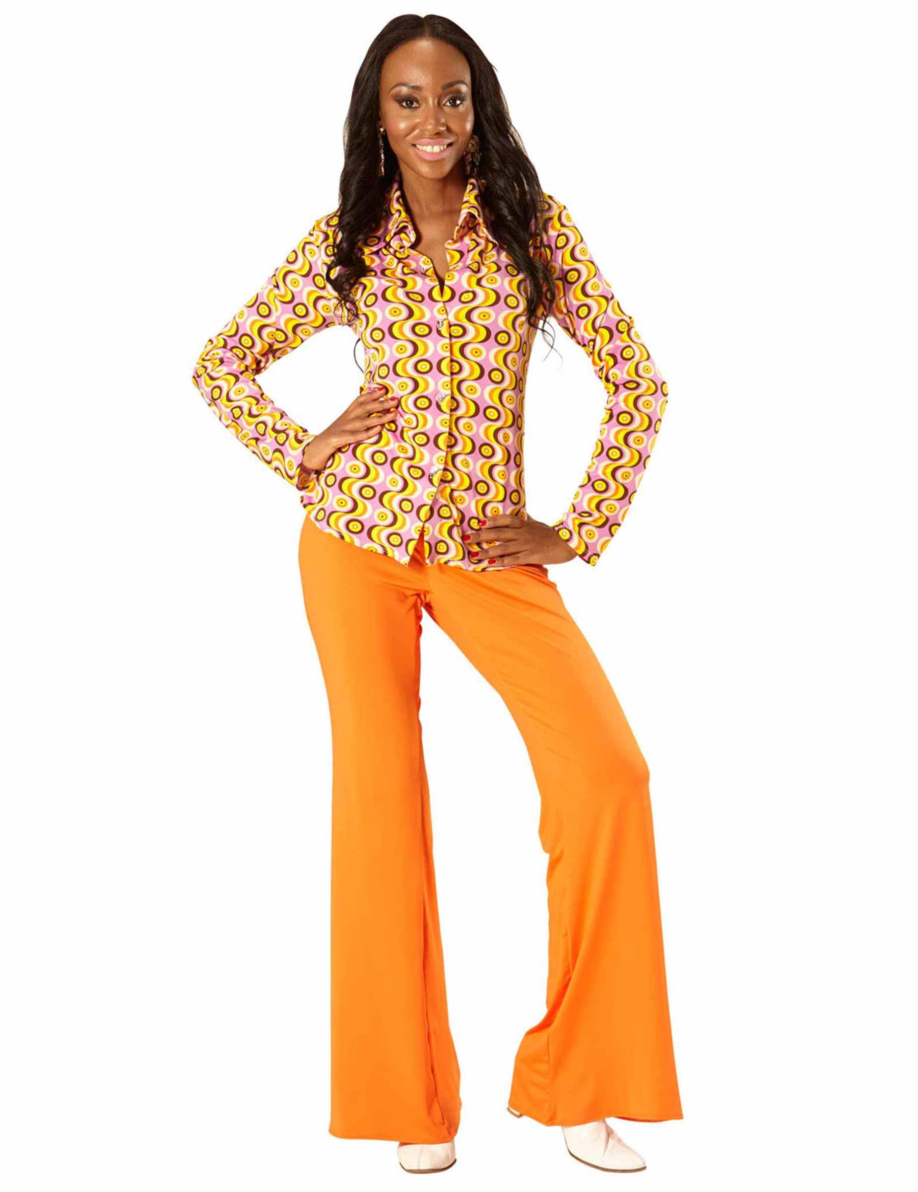70er Jahre Disco Shirt für Damen