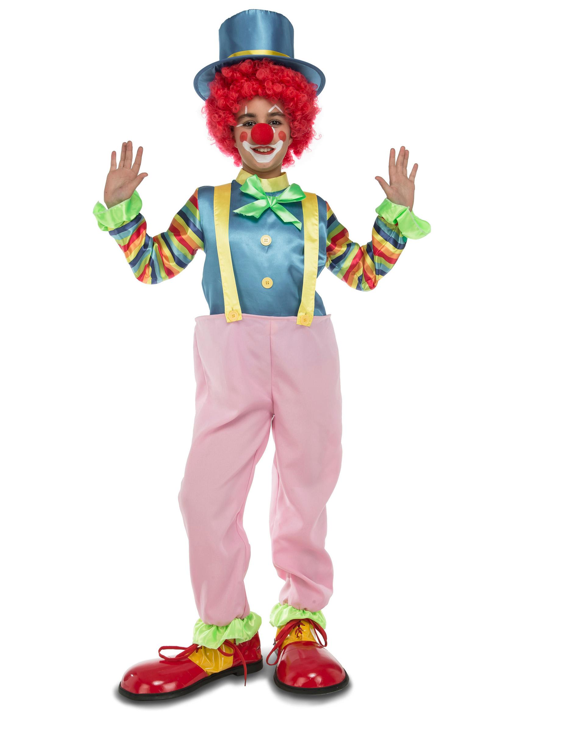 kost m clown f r kinder rosa g nstige faschings kost me bei karneval megastore. Black Bedroom Furniture Sets. Home Design Ideas