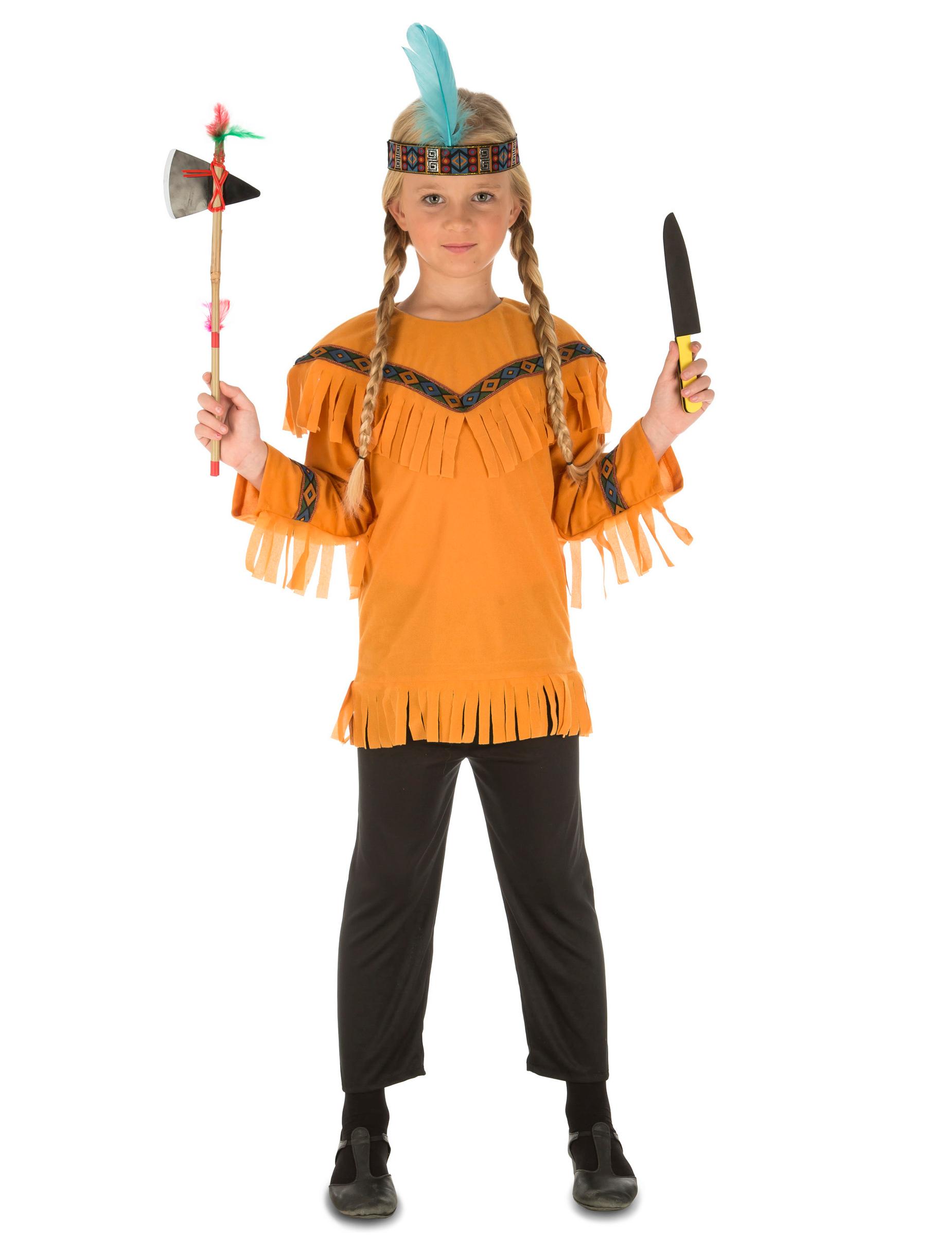 Indianer Kostum Mit Zubehor Fur Kinder Gunstige Faschings Kostume