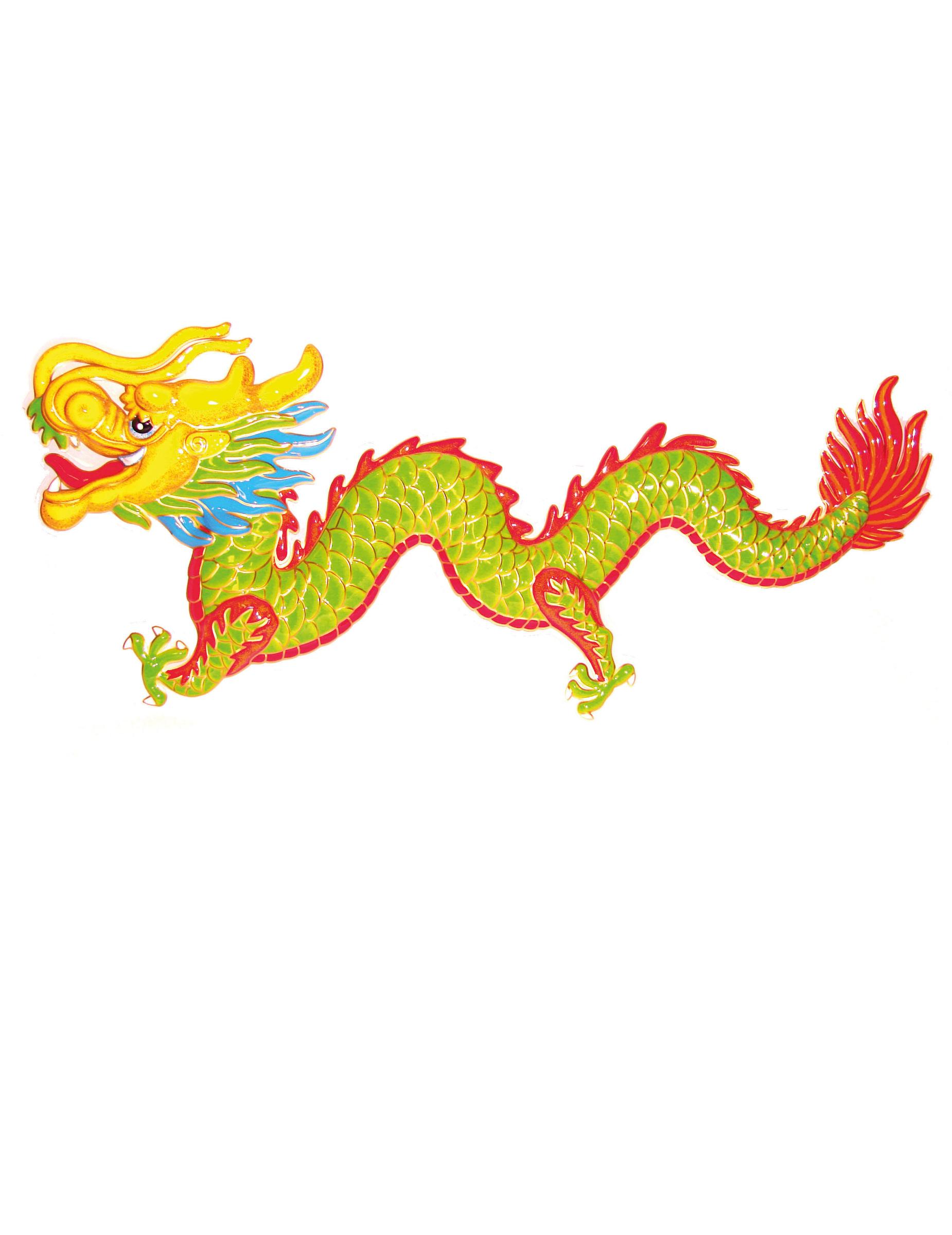 Drachen Dekoration Asien Mottoparty 100cm G Nstige
