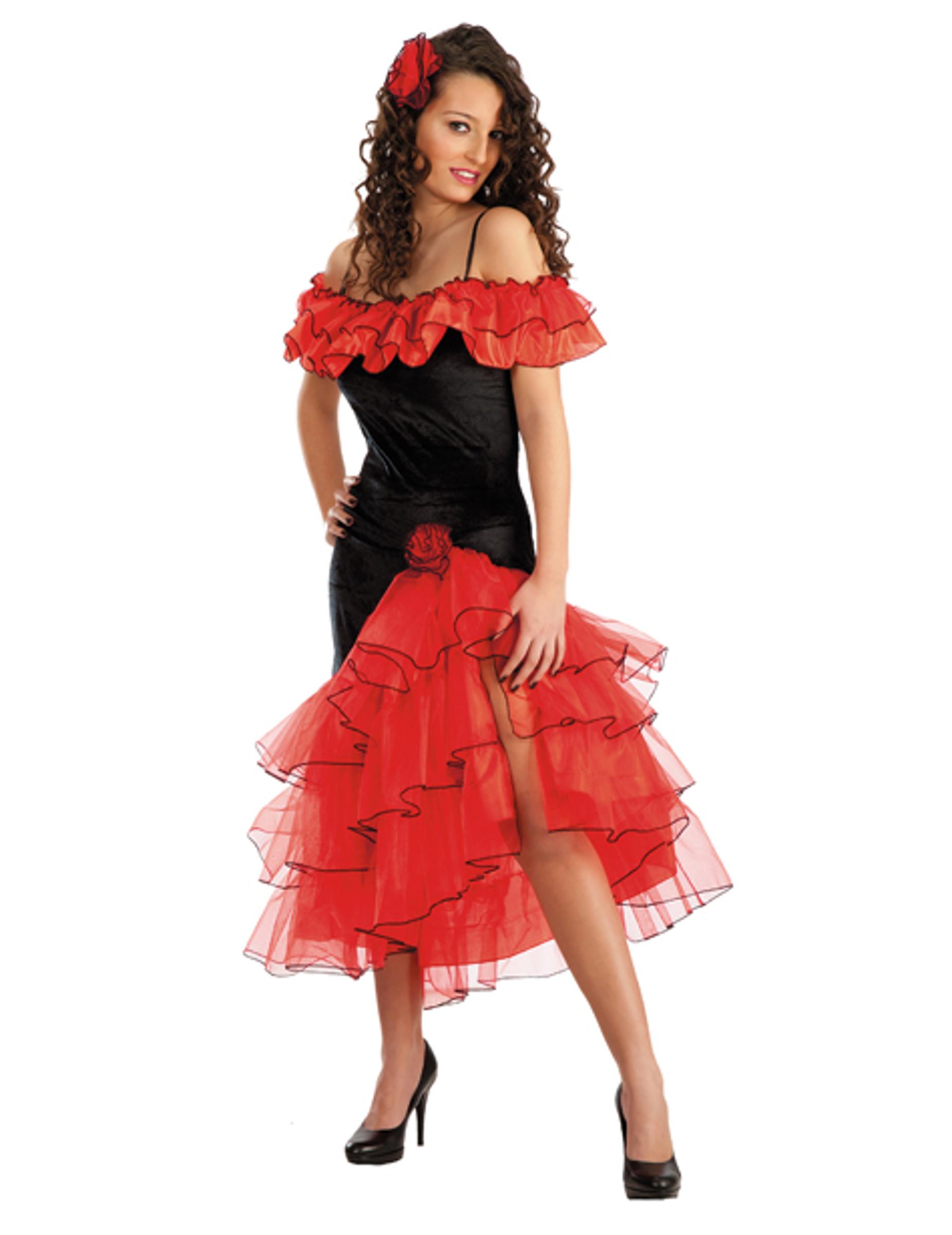Damenkost m spanische t nzerin g nstige faschings kost me bei karneval megastore - Spanische tischdekoration ...