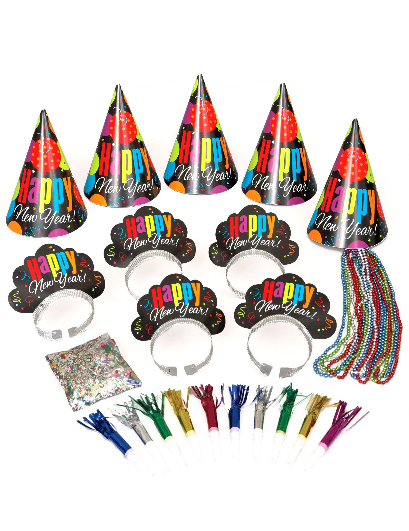 silvester party set f r 10 personen g nstige faschings partydeko zubeh r bei karneval megastore. Black Bedroom Furniture Sets. Home Design Ideas
