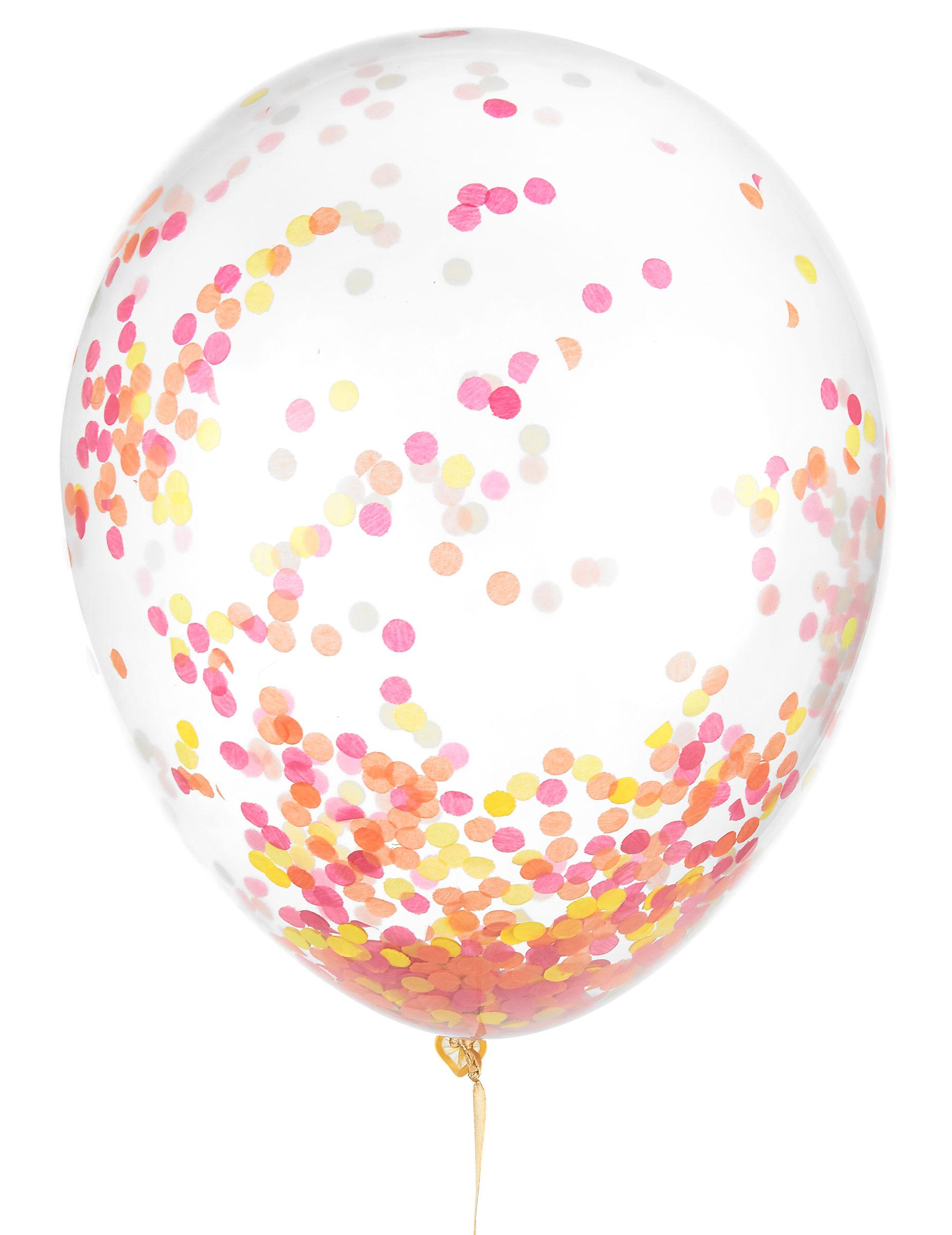 leuchtender latex ballon mit konfetti 30 cm g nstige faschings partydeko zubeh r bei. Black Bedroom Furniture Sets. Home Design Ideas