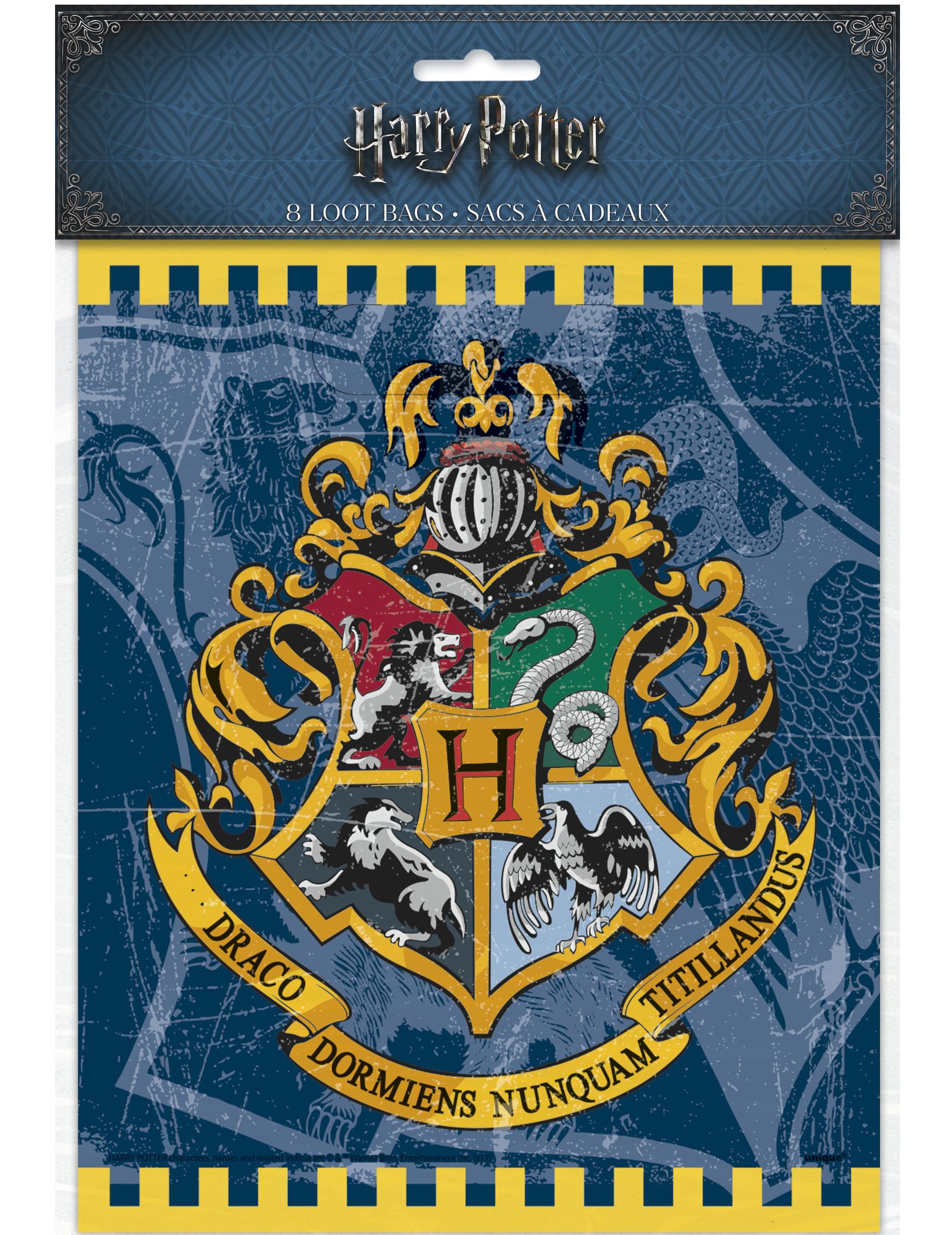 harry potter geschenkt ten hogwarts wappen lizenzware 8 st ck blau bunt 23x19cm g nstige. Black Bedroom Furniture Sets. Home Design Ideas