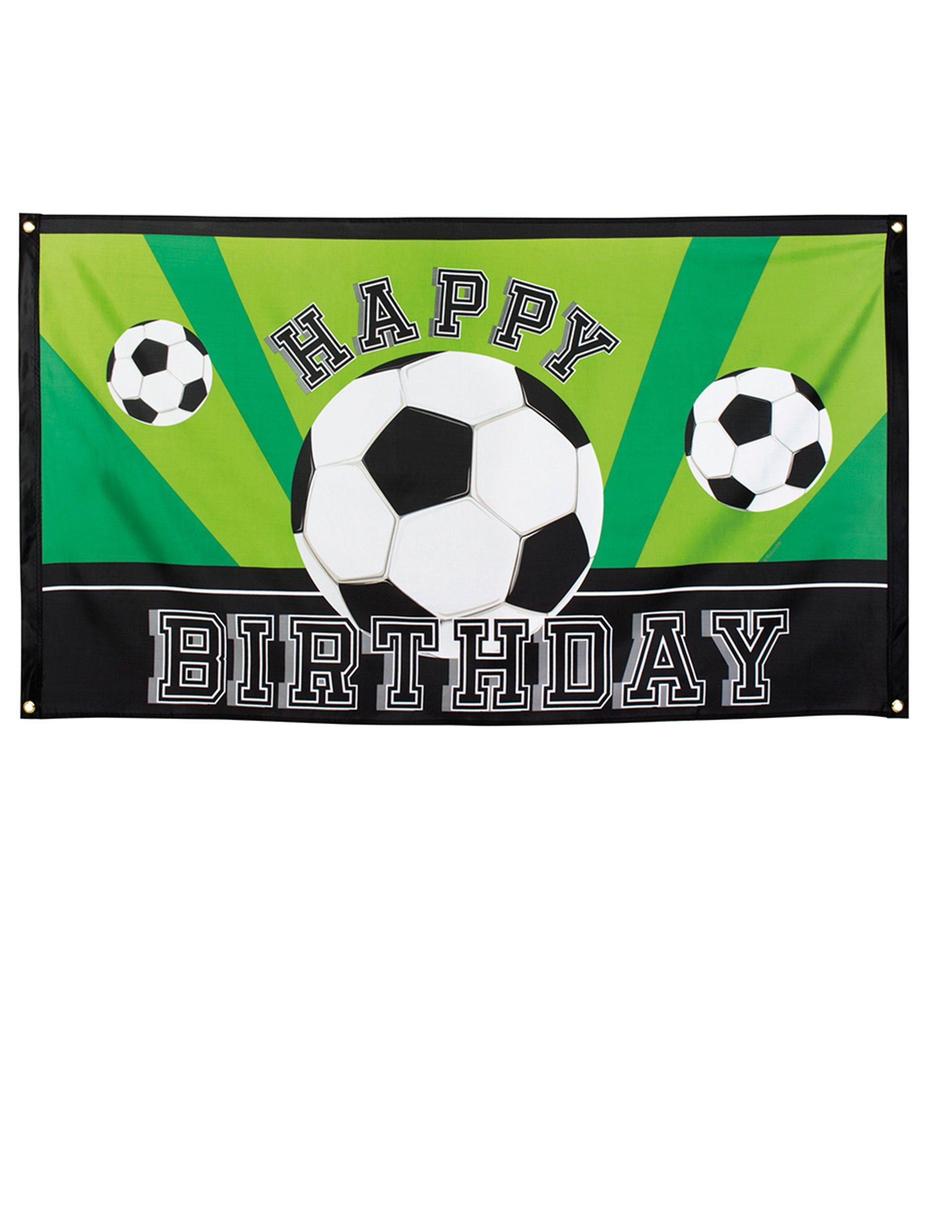 Fussball Banner Alles Gute Zum Geburtstag Partydeko 90 X 150 Cm