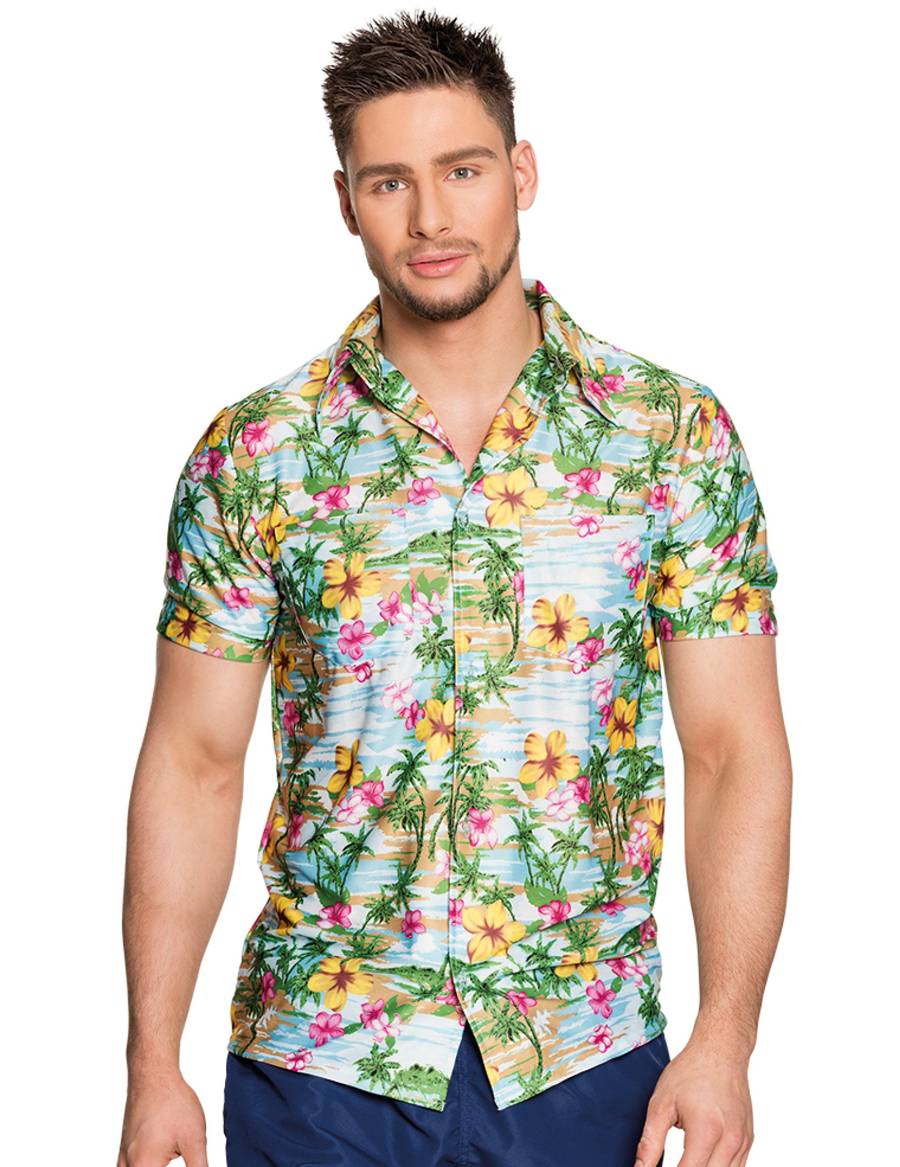 paradiesisches hawaii hemd f r erwachsene bunt g nstige faschings kost me bei karneval megastore. Black Bedroom Furniture Sets. Home Design Ideas