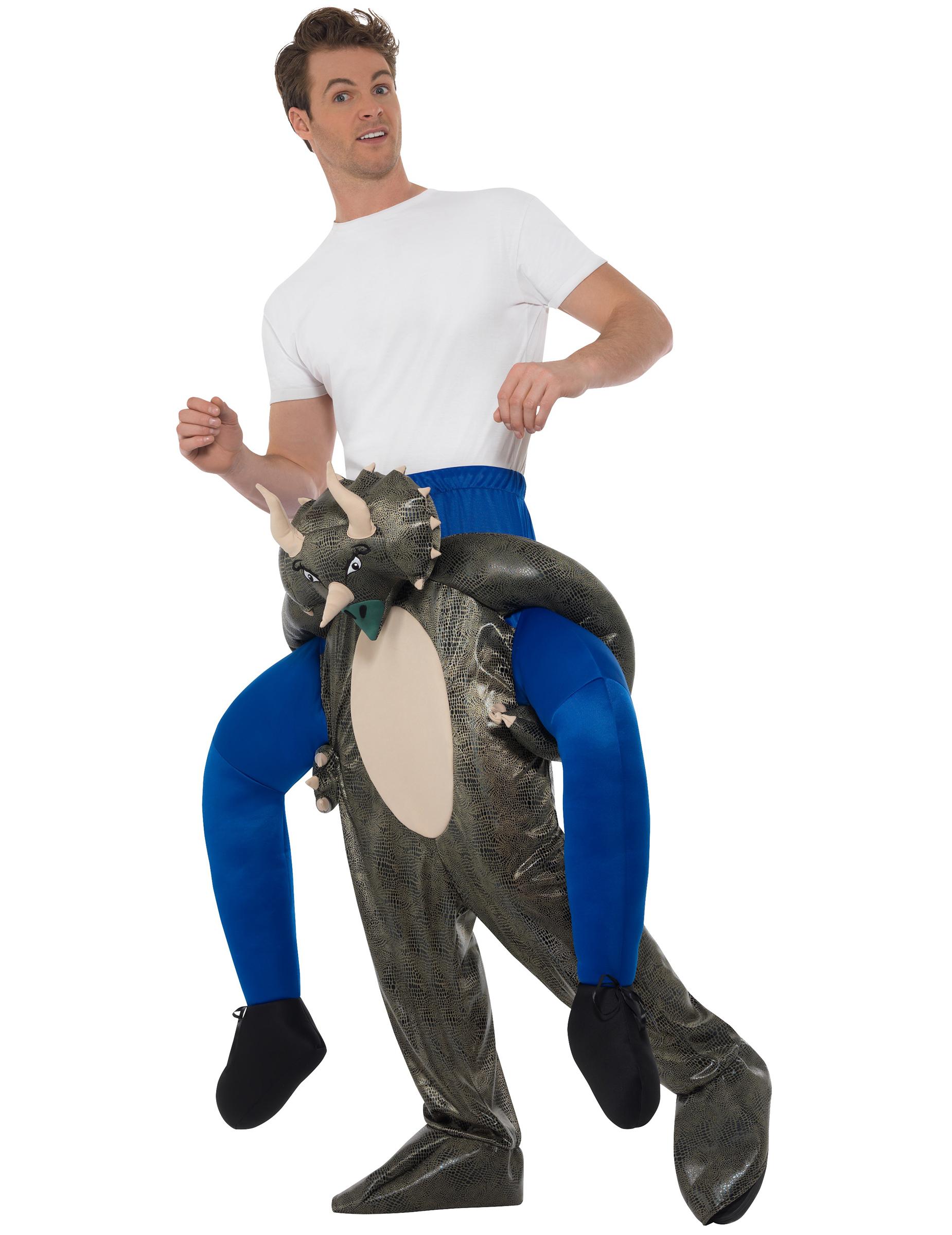 dinosaurier reiter carry me kost m grau g nstige faschings kost me bei karneval megastore. Black Bedroom Furniture Sets. Home Design Ideas