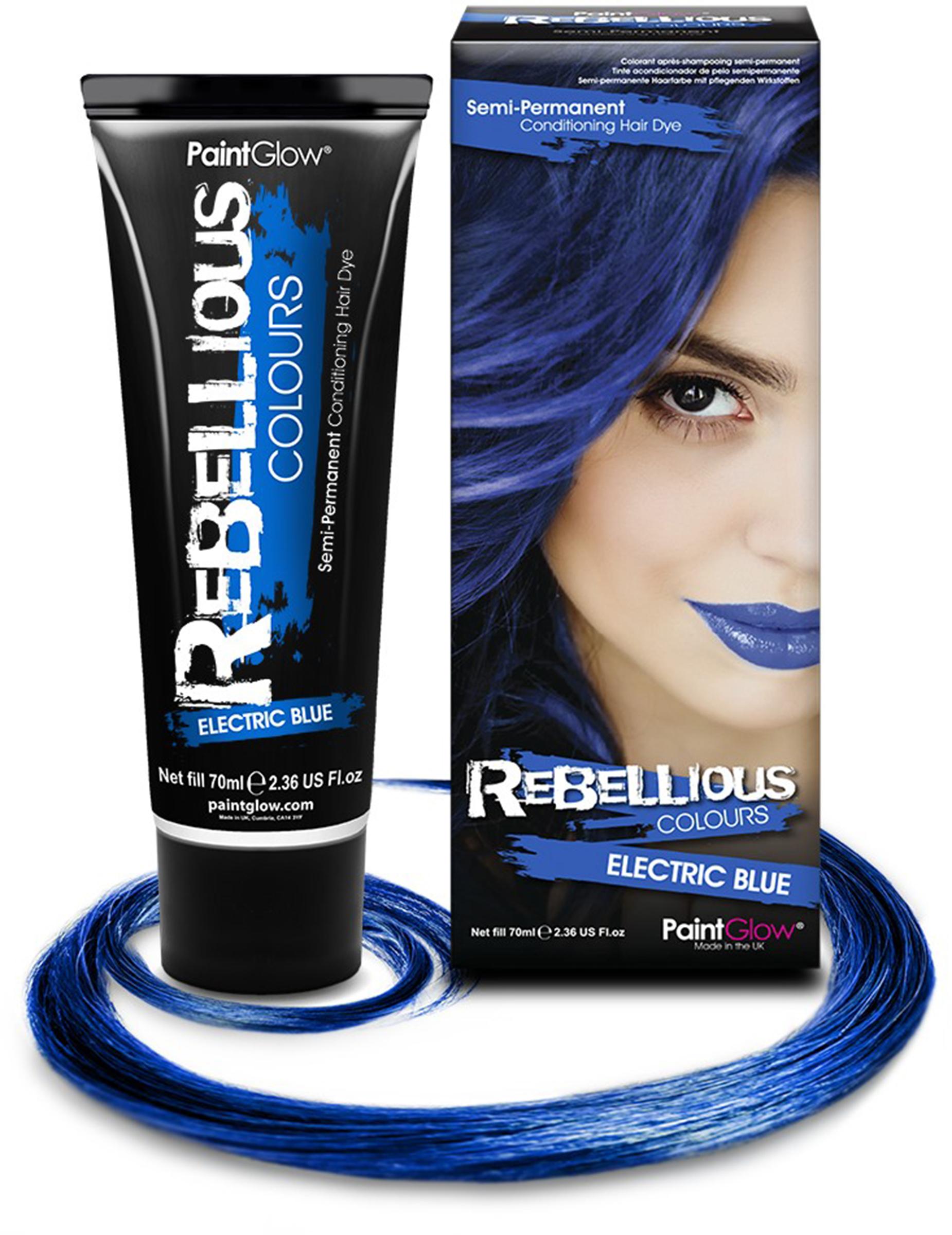 tempor re haarfarbe blau 70ml g nstige faschings make up bei karneval megastore. Black Bedroom Furniture Sets. Home Design Ideas