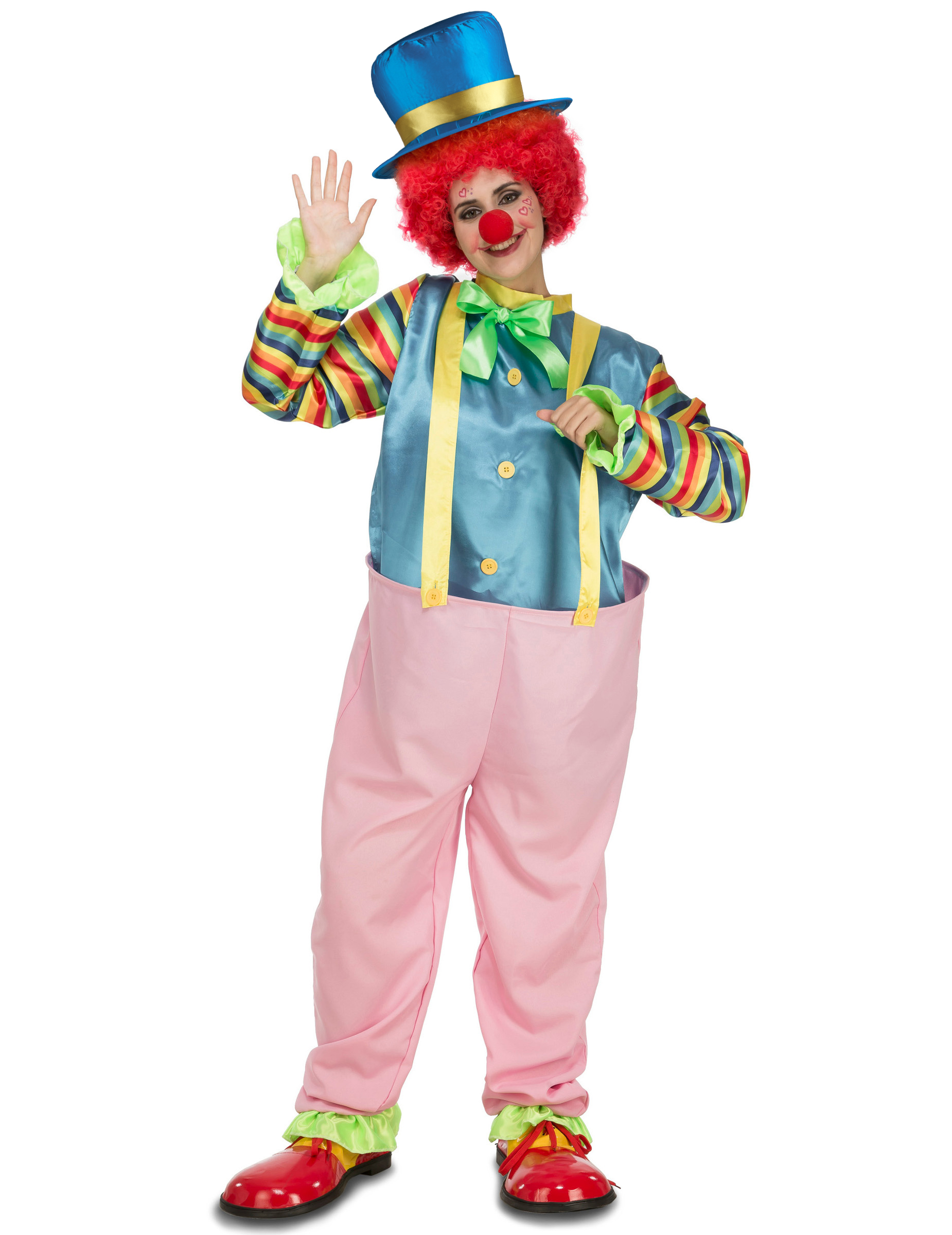 Clown Kostum Fur Erwachsene Rosa Gunstige Faschings Kostume Bei