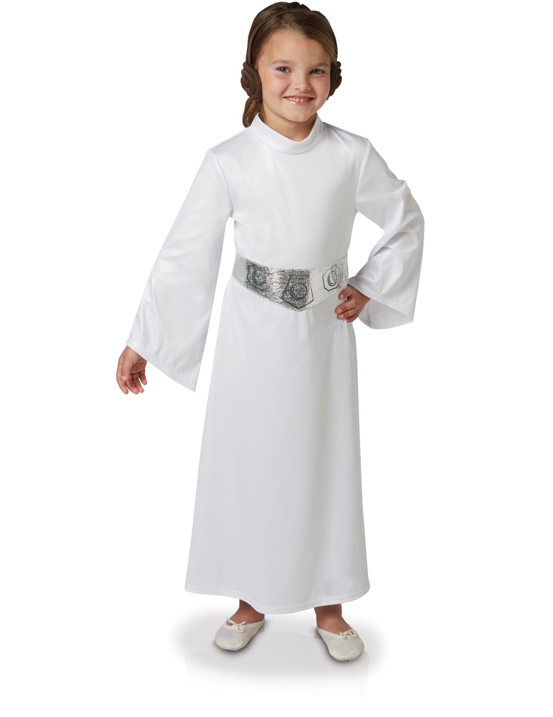 Prinzessin Leia Lizenzkostum Star Wars Kinderkostum Weiss Silber