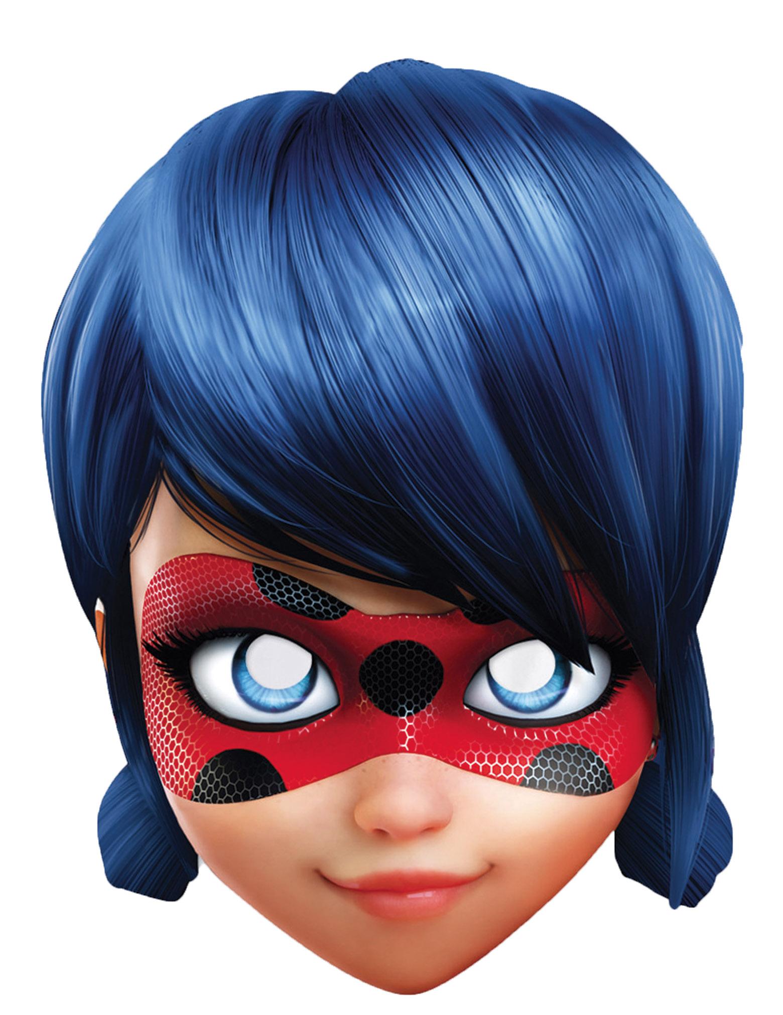 ladybug™pappmaske miraculous™lizenzmaske für kinder blau