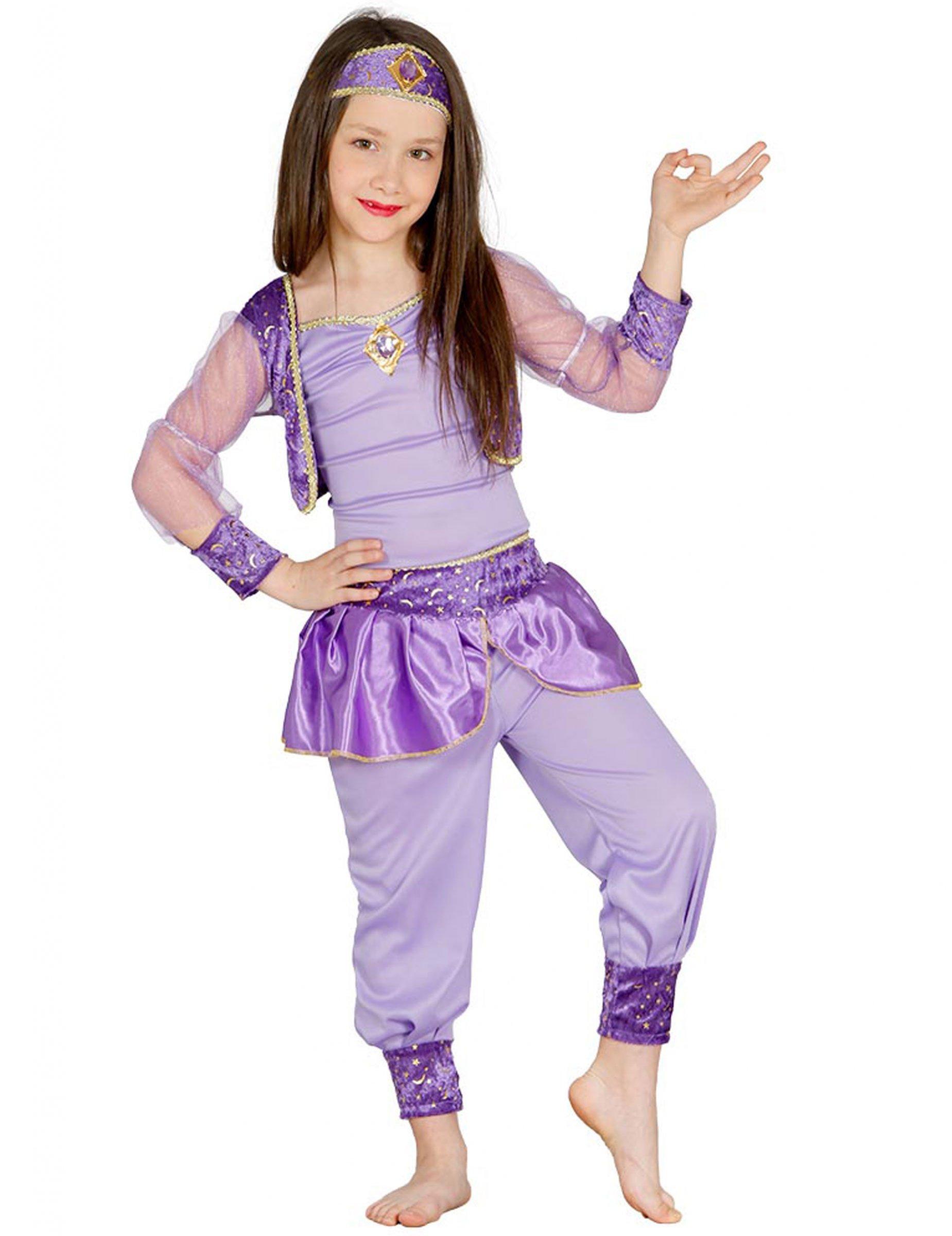 Orientalisches Tanzerinnen Kostum Fur Kinder Flieder Lila Gunstige