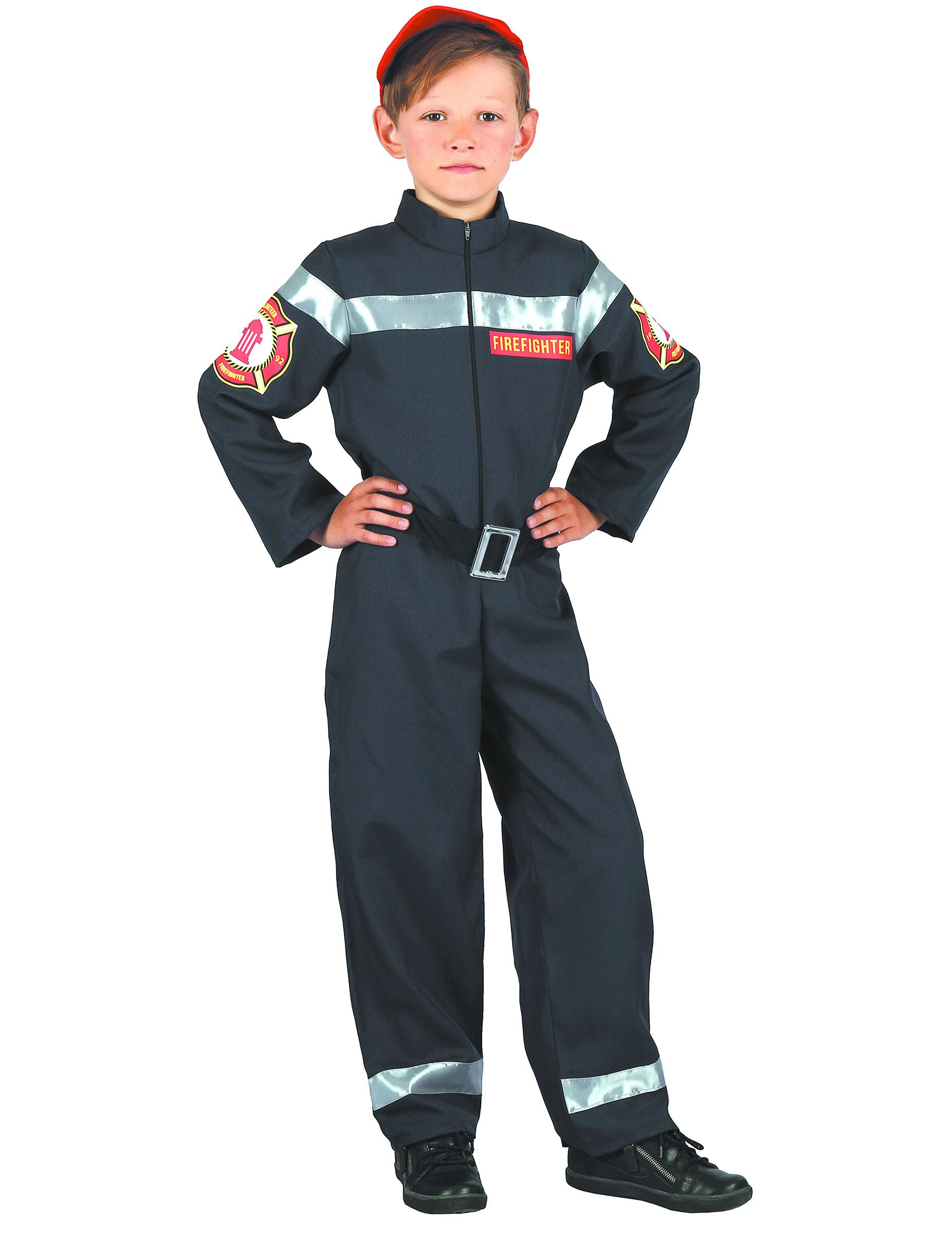 Feuerwehrmann-Kostüm für Jungen dunkelblau , günstige Faschings ...