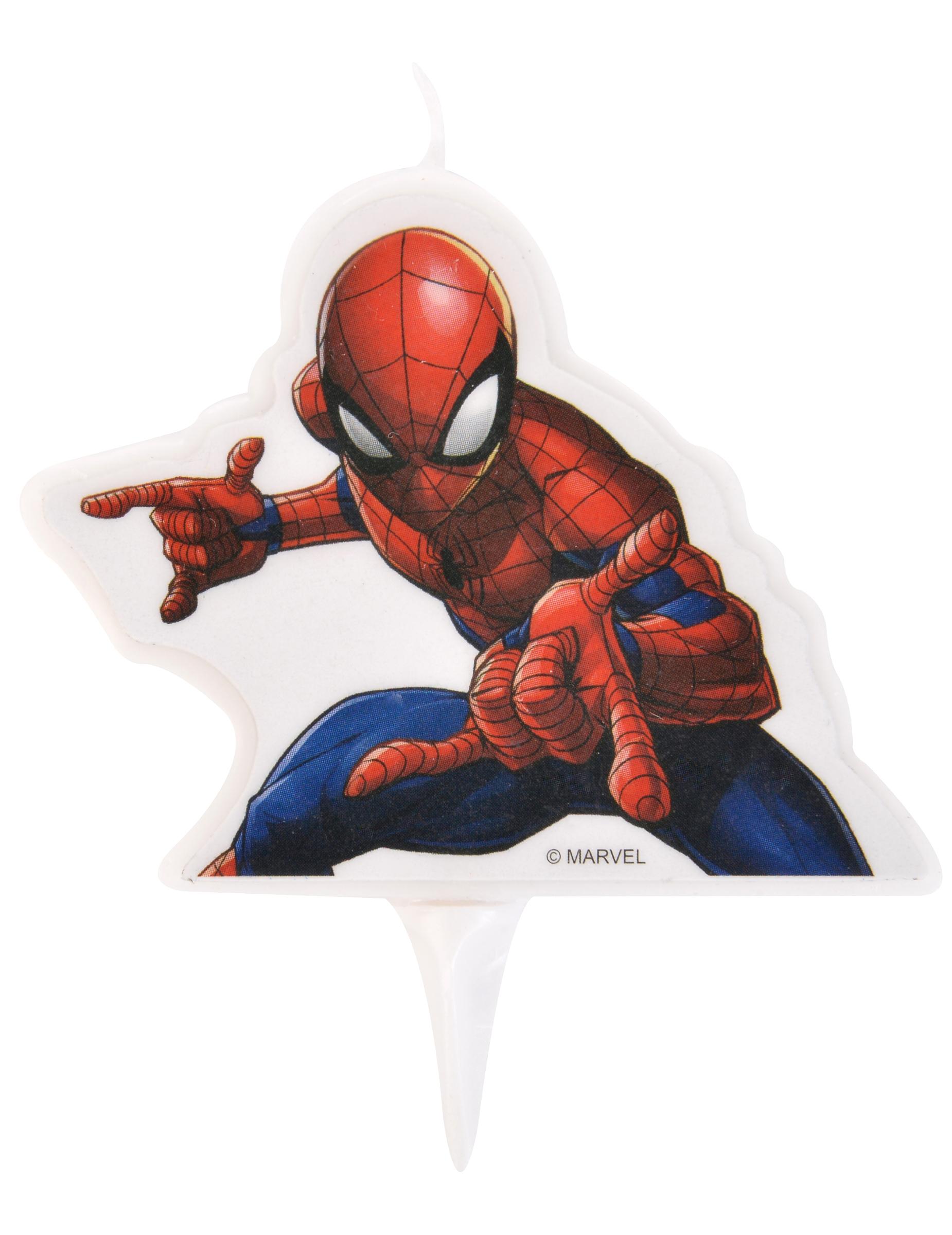 Spiderman Kerze Marvel Tischdeko Rot Blau Weiss 9x7cm Gunstige