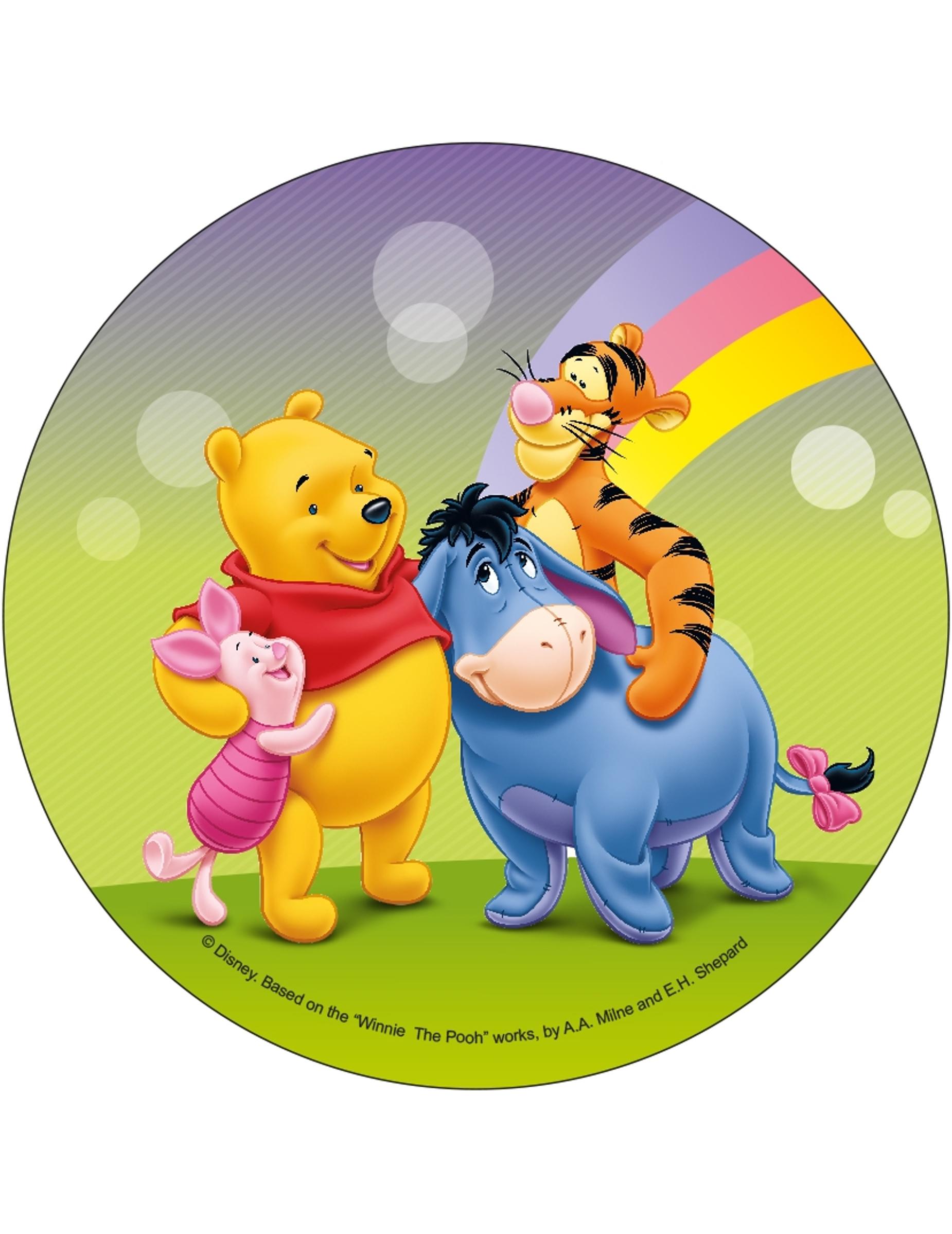 21 cm große Oblate von Winnie the Pooh