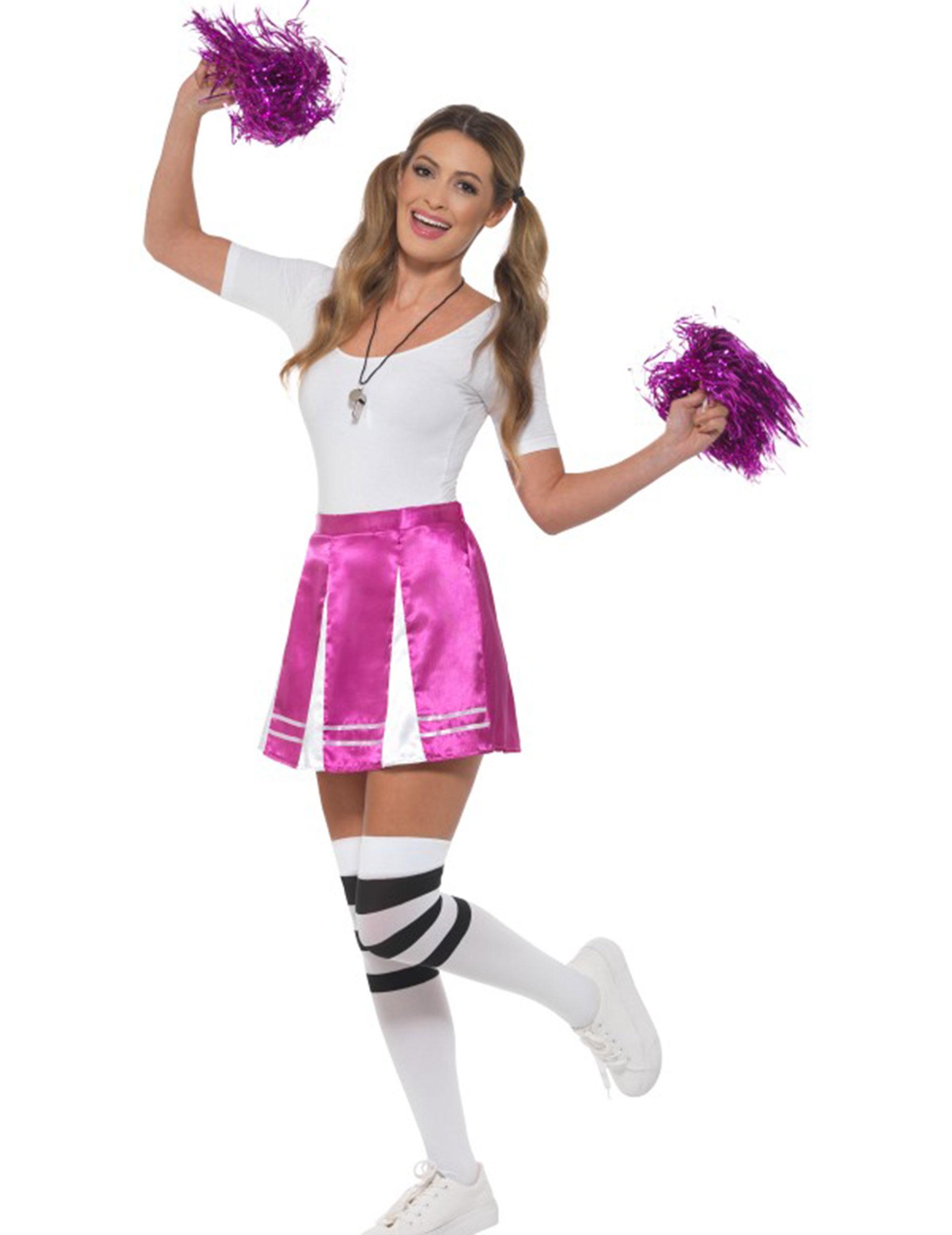 Cheerleader Kostum Fur Damen Karneval Violett Gunstige Faschings