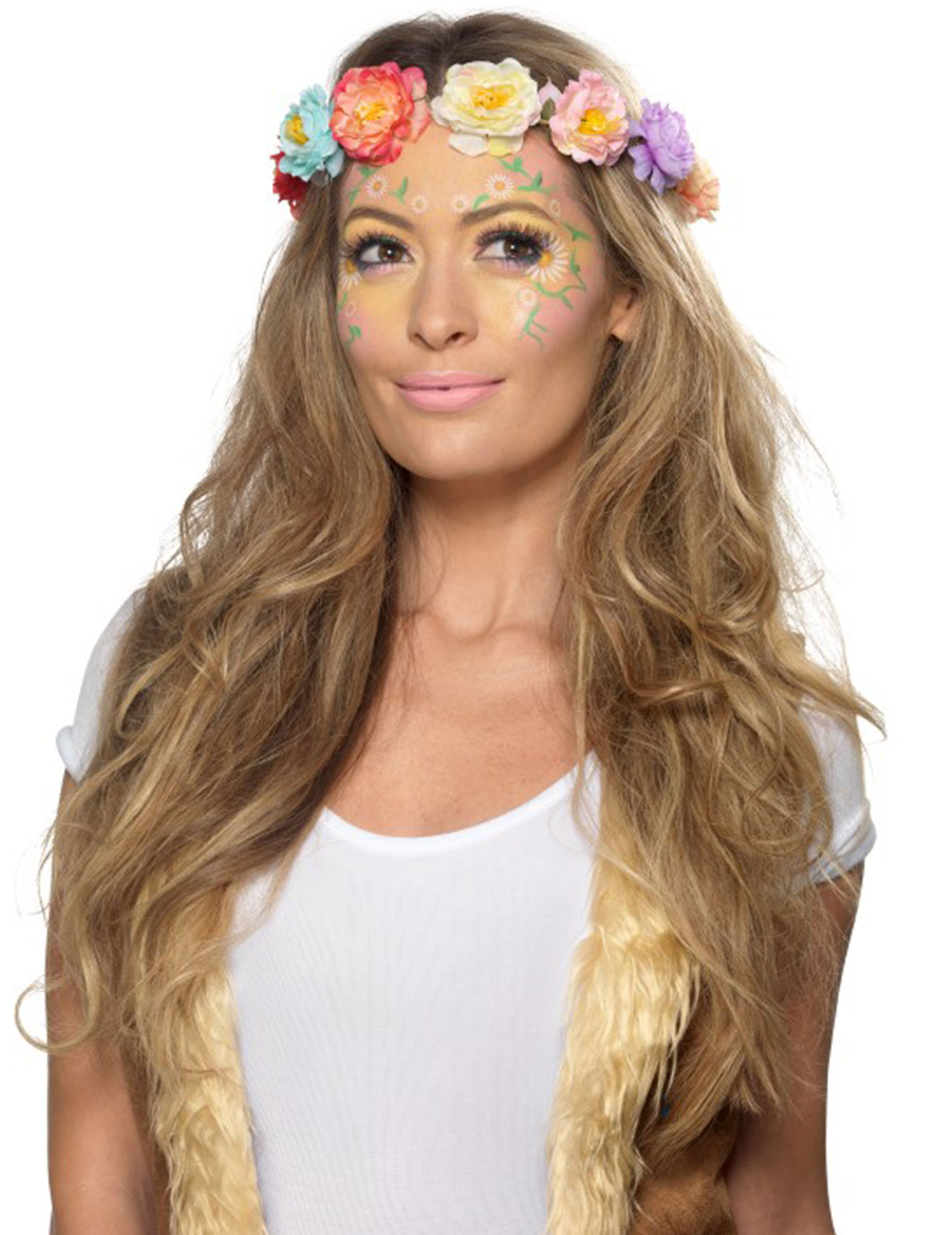 Hippie Schminkset 17 Teilig Bunt Gunstige Faschings Make Up Bei