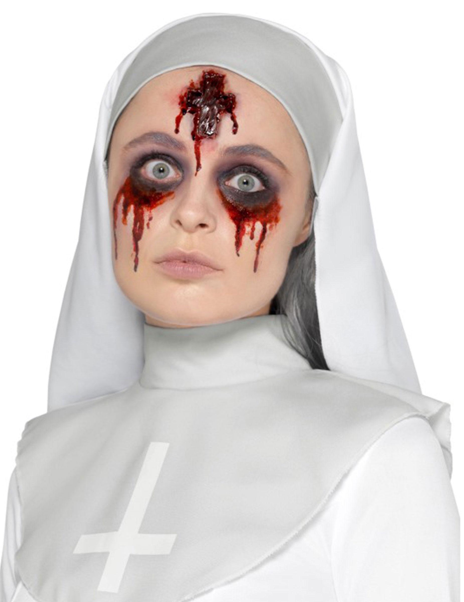 Kunstliche Wunde Kruzifix Halloween Makeup Rot Gunstige Faschings
