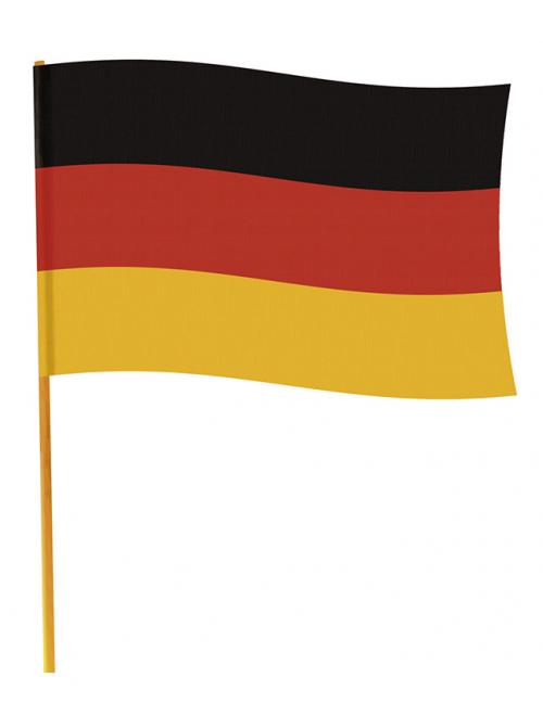 Deutschland Fahne Mit Stab Deutschland Flagge Schwarz Rot Gelb