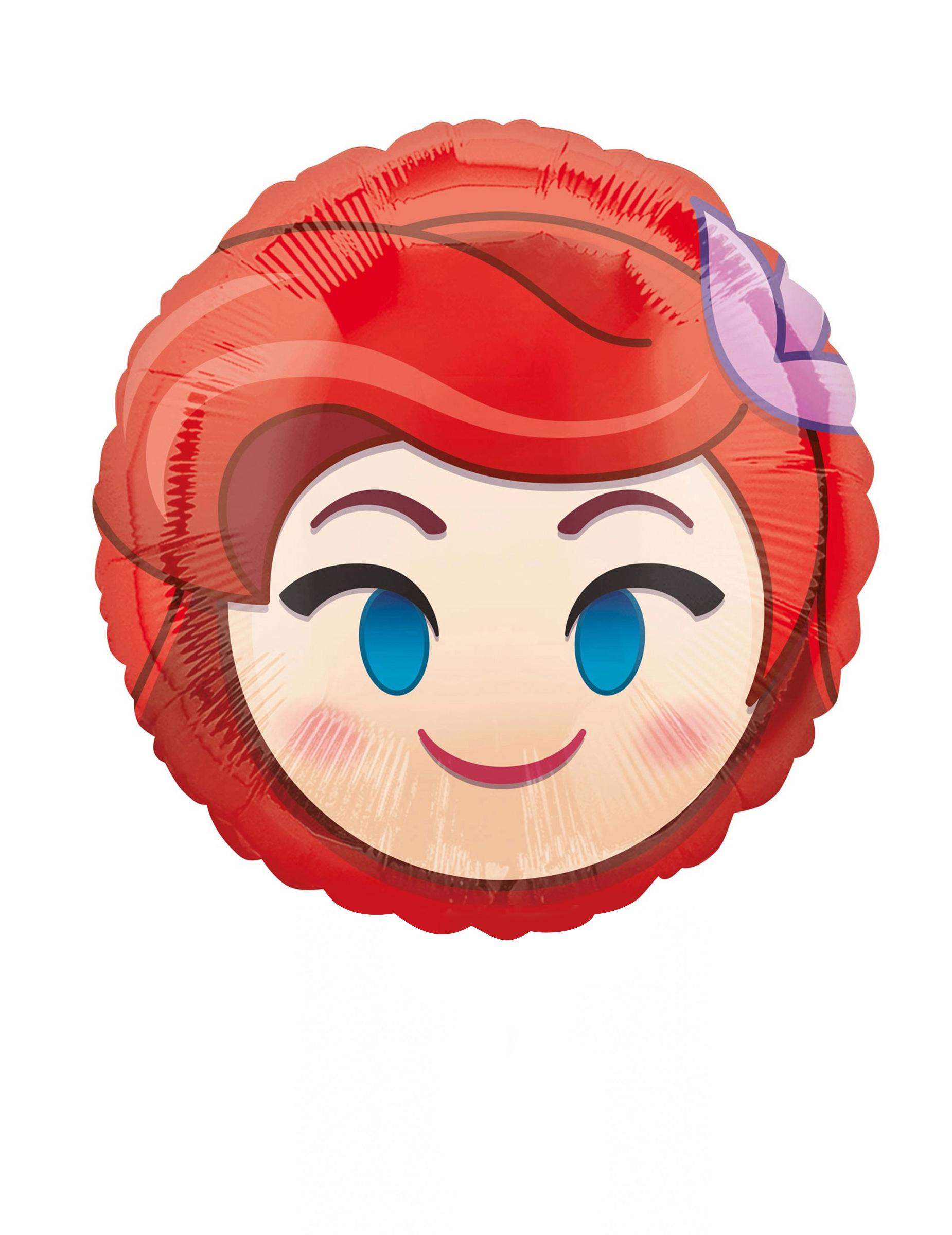 Folienballon Rund Arielle Die Meerjungfrau Emoji Bunt 23cm