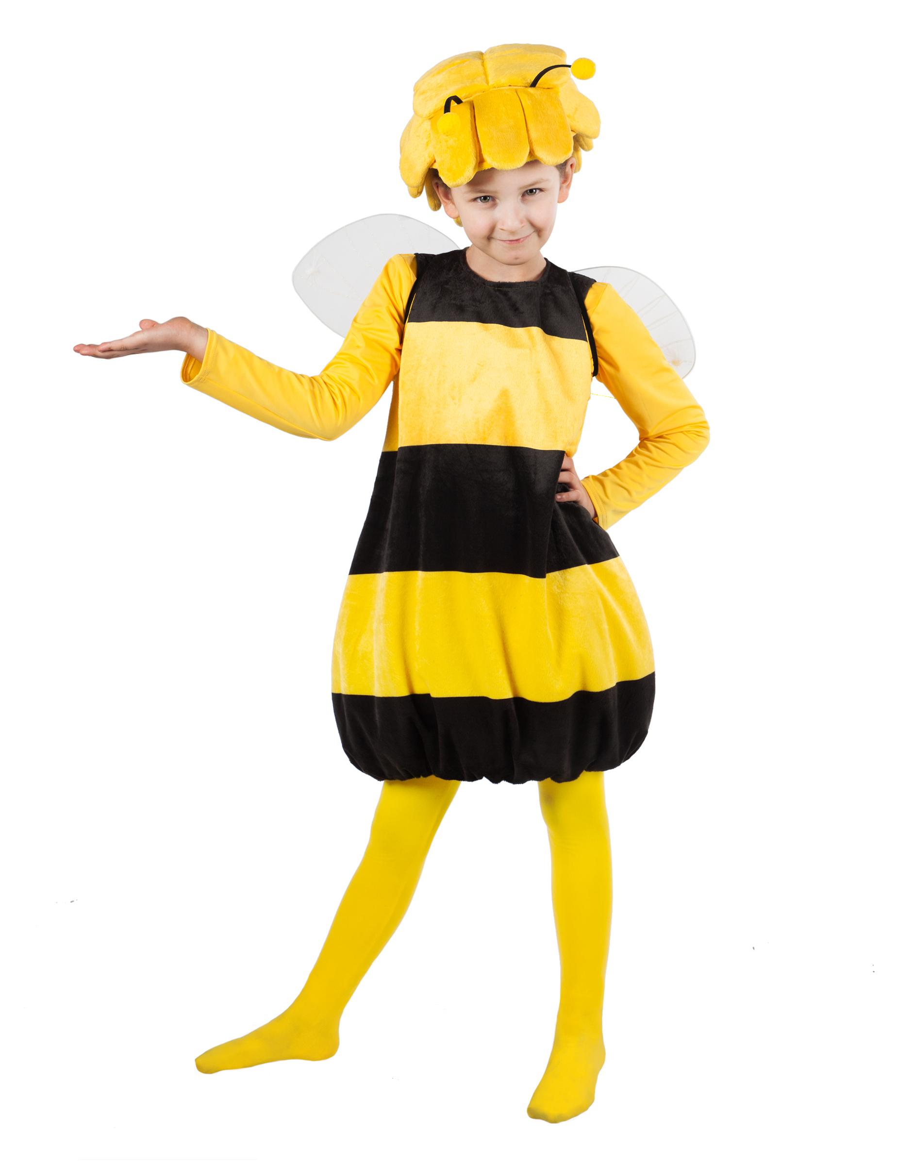 Biene Maya Lizenzkostum Fur Kinder Schwarz Gelb Gunstige