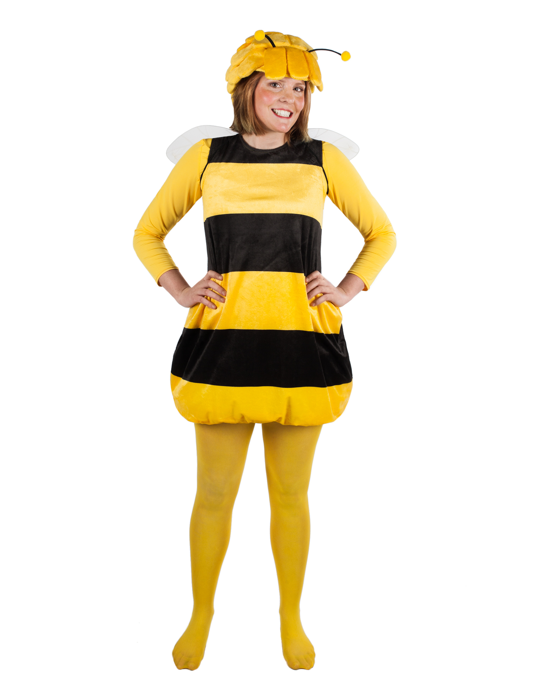 Biene Maja Damenkostum Faschingskostum Schwarz Gelb Gunstige