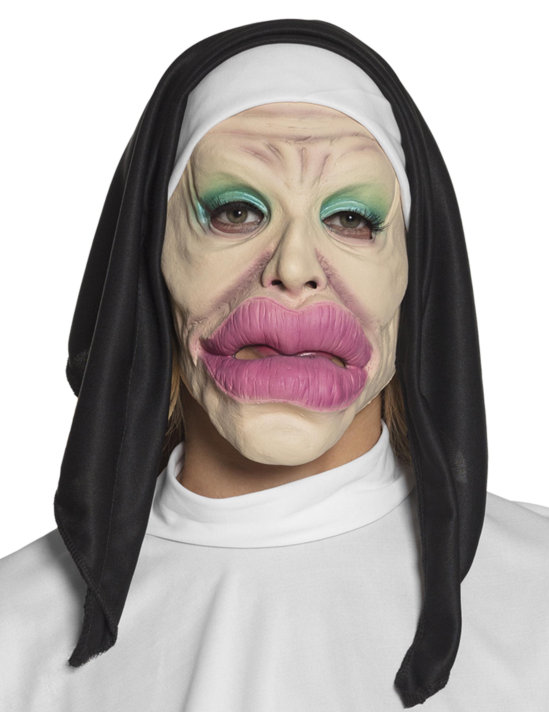 Geschminkte Nonnen Maske Lustige Maske Bunt Gunstige Faschings