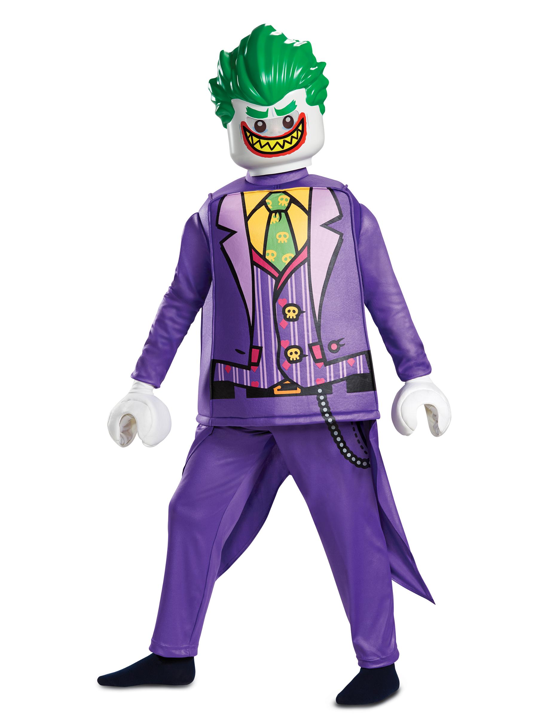 lego joker kostum fur kinder karneval violett grun