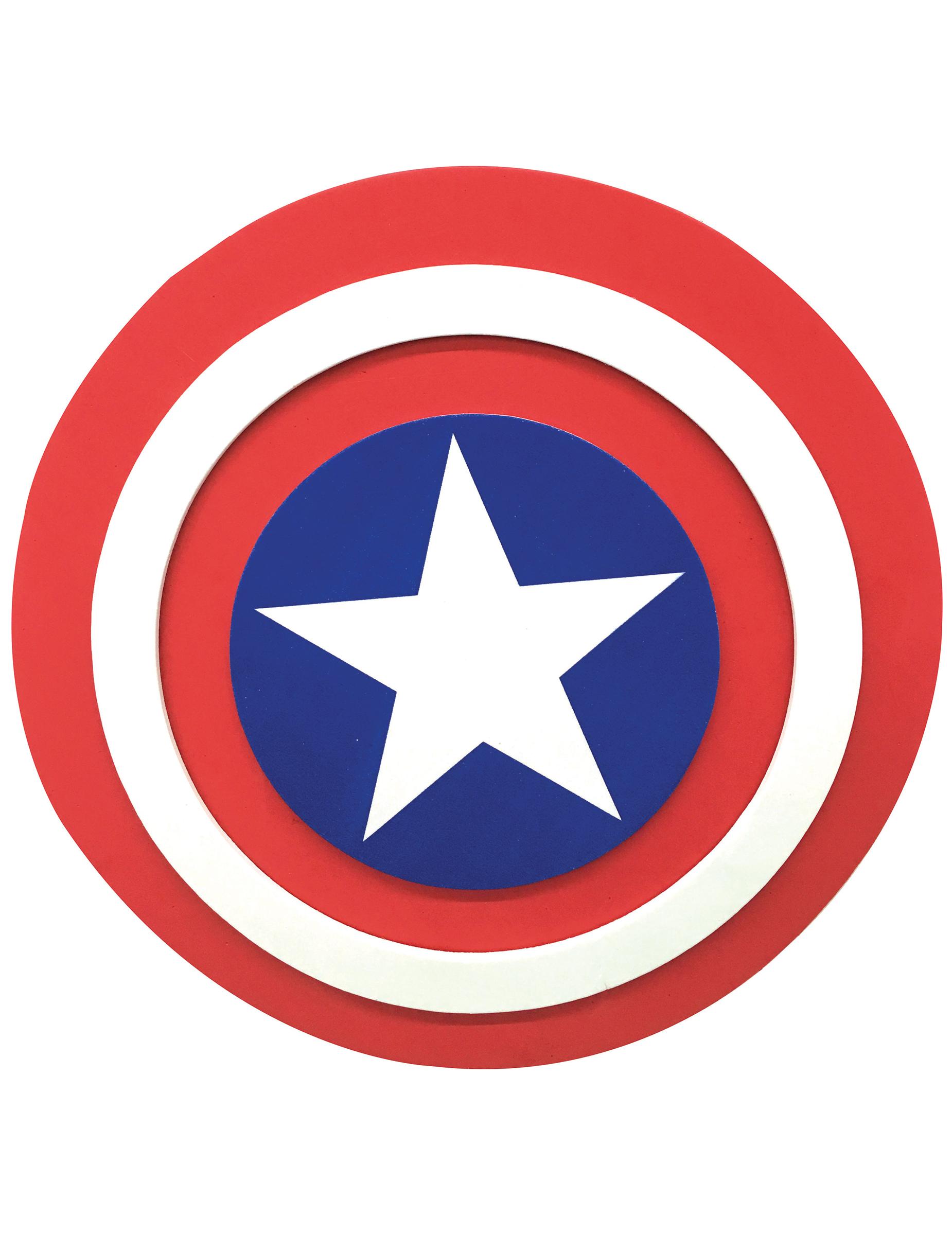 captain america schild f r kinder weiss rot blau 30 cm g nstige faschings accessoires. Black Bedroom Furniture Sets. Home Design Ideas