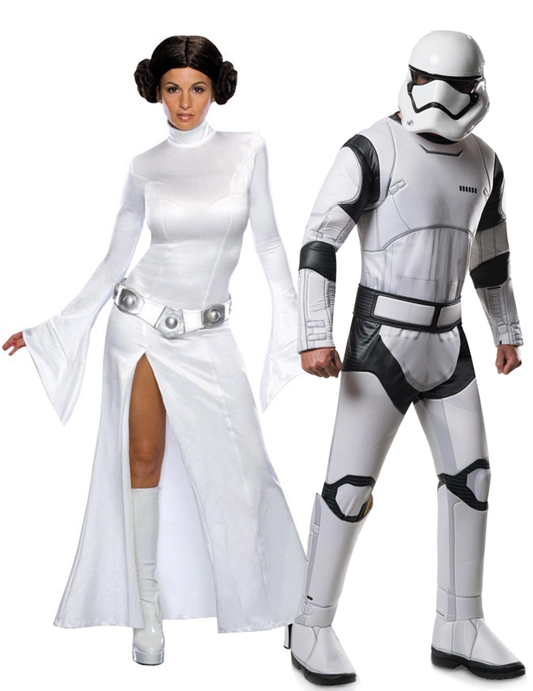 Star Wars Paarkostum Leia Und Stormtrooper Weiss Schwarz Gunstige