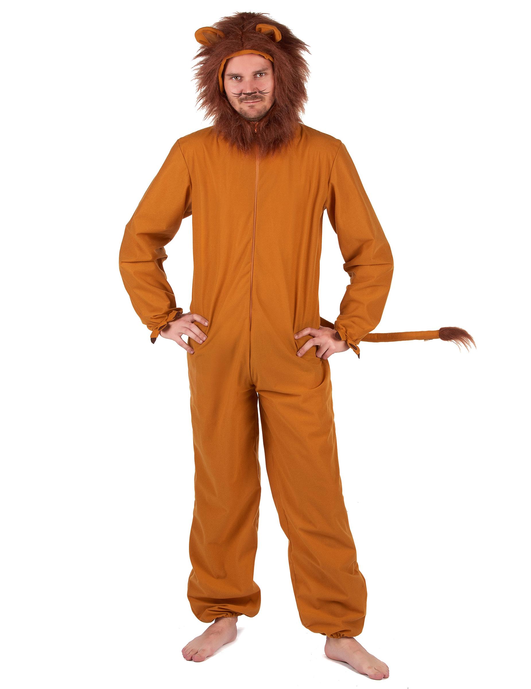 Lowen Kostum Fur Herren Faschingskostum Braun Gunstige Faschings