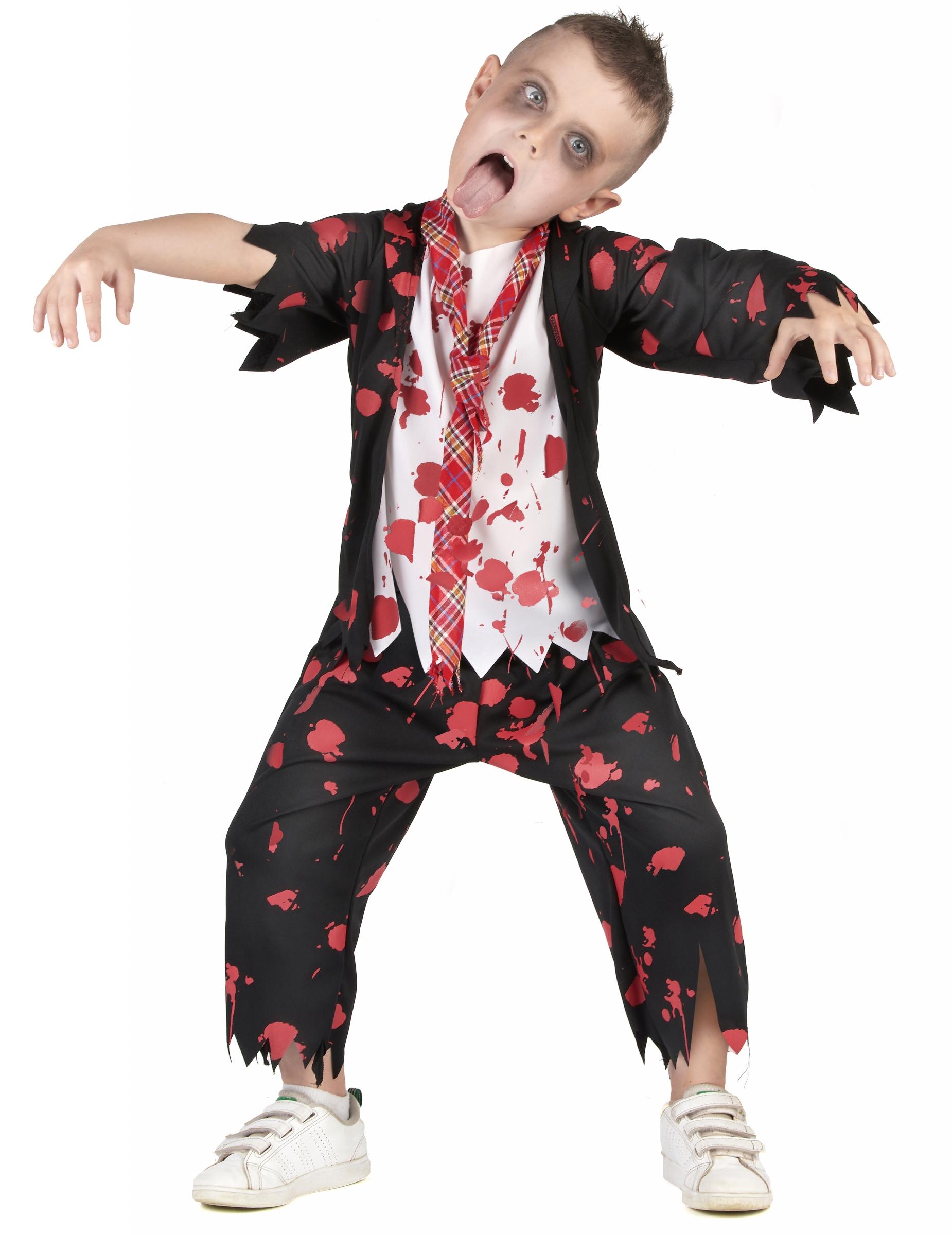 Halloween Kostume Jungs.Zombie Schuler Kostum Fur Jungen Halloween Kostum Schwarz Weiss Rot Gunstige Faschings Kostume Bei Karneval Megastore