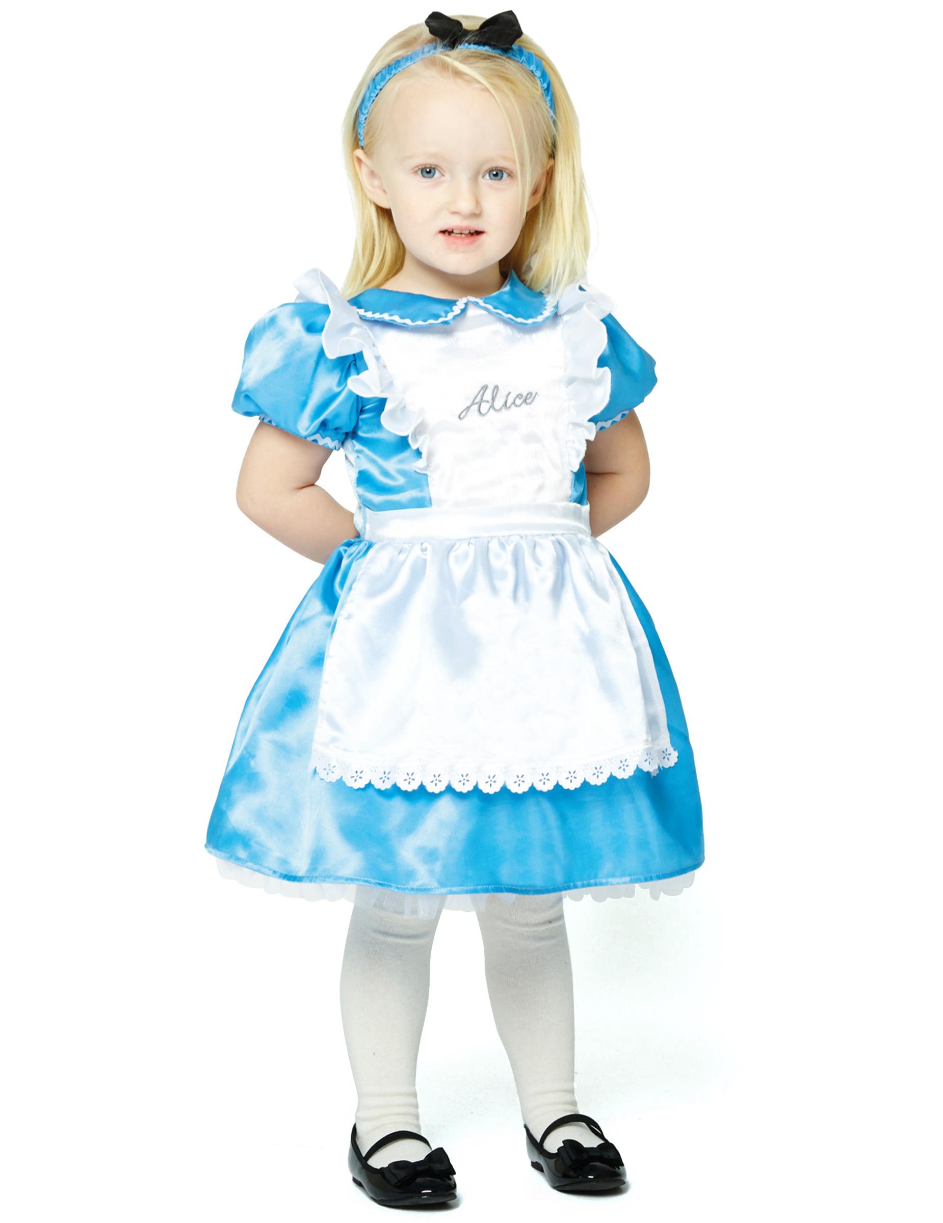alice im wunderland kostum fur kleinkinder karneval blau weiss